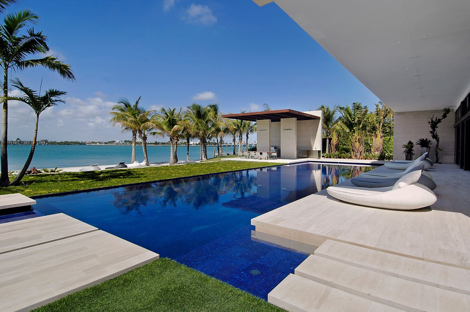 Real Estate Photography - 3 Indian Creek Island Dr, Miami Beach, FL, 33154 - Pool