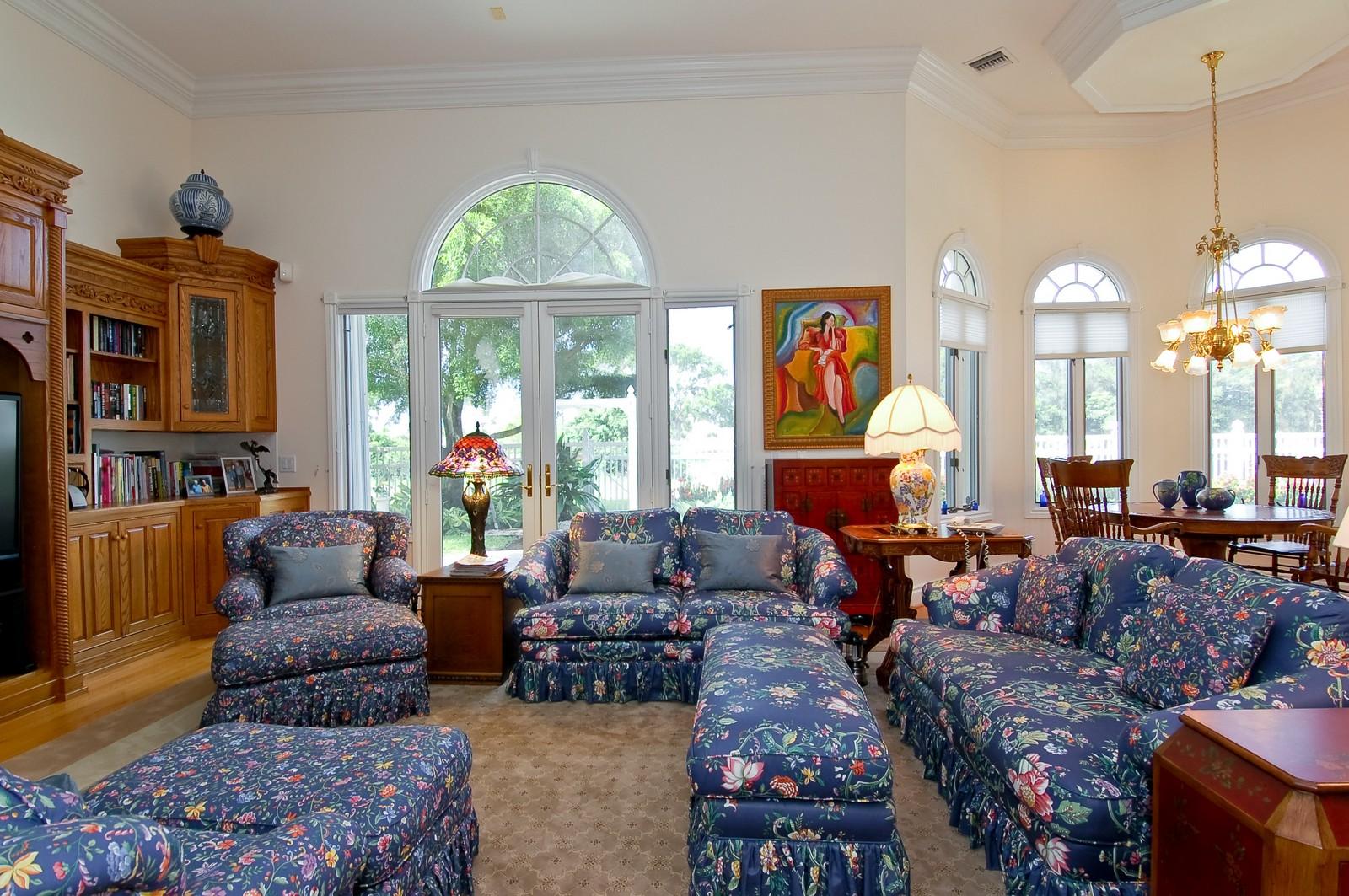 Real Estate Photography - 4252 Bocaire Blvd, Boca Raton, FL, 33487 - Family Room