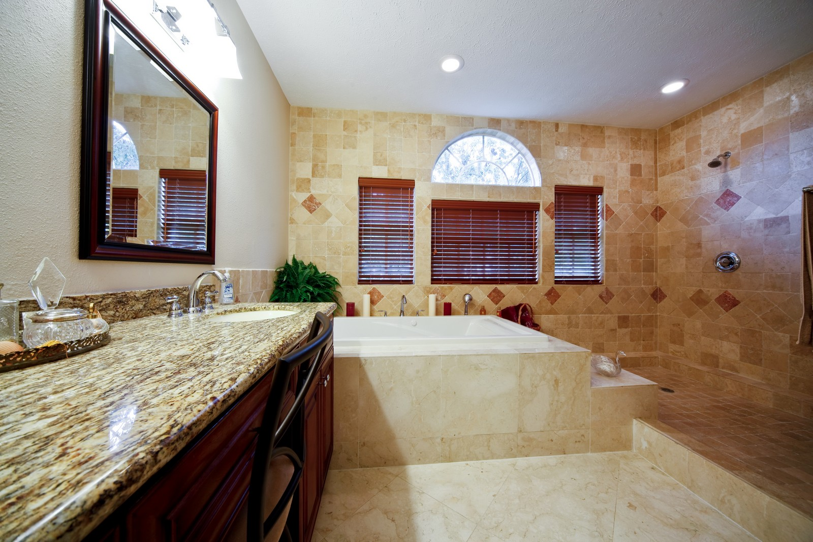 Real Estate Photography - 18750 Wimbledon Cir, Lutz, FL, 33558 - Master Bathroom