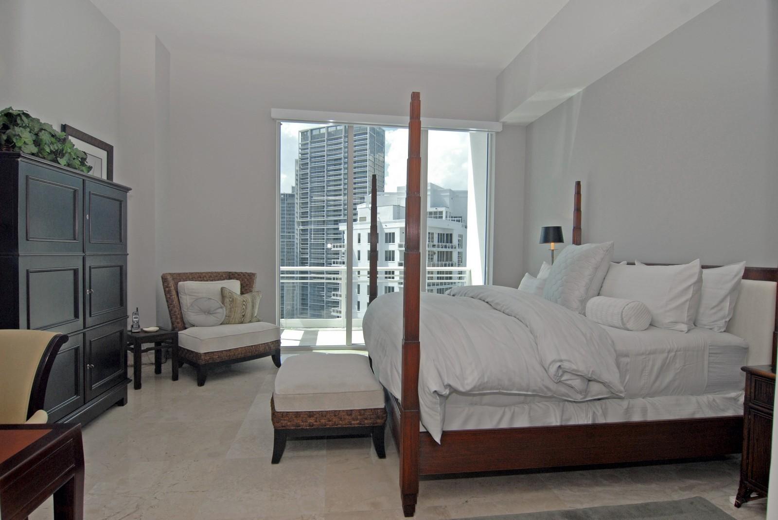 Real Estate Photography - 900 Brickell Key Blvd, Apt 3004, Miami, FL, 33131 - Master Bedroom
