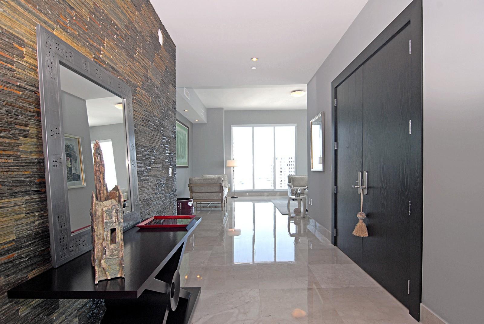 Real Estate Photography - 900 Brickell Key Blvd, Apt 3004, Miami, FL, 33131 - Foyer