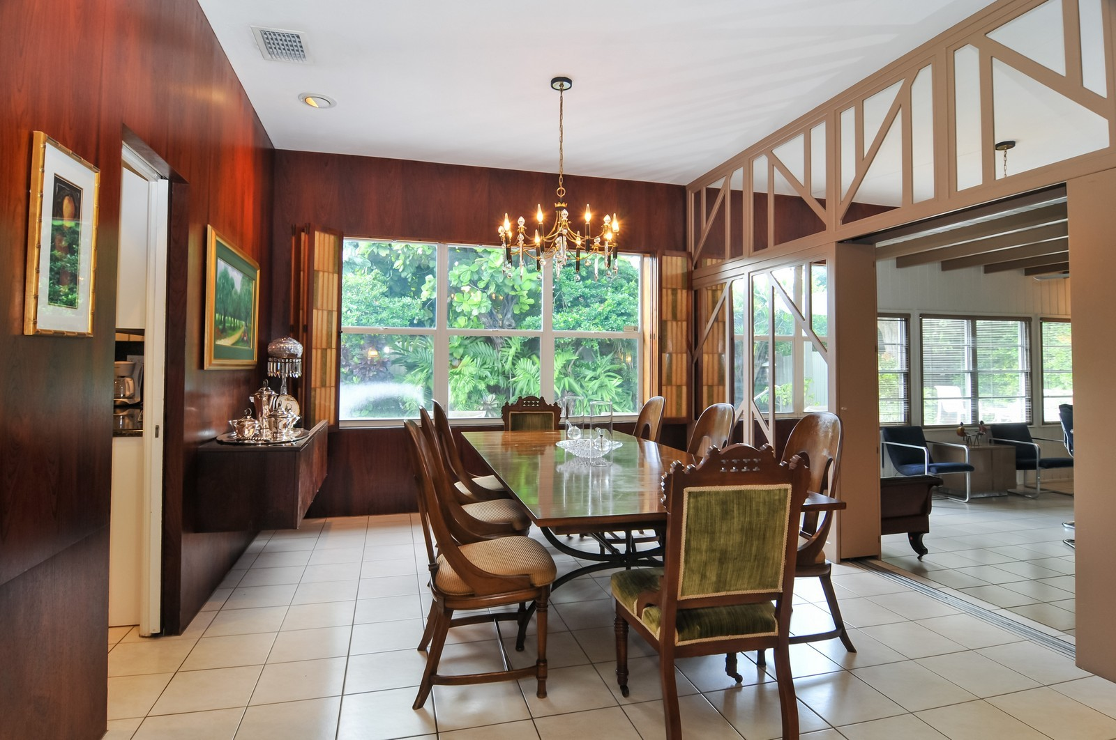 Real Estate Photography - 240 East Shore Drive, Miami, FL, 33133 - Family Room / Dining Room