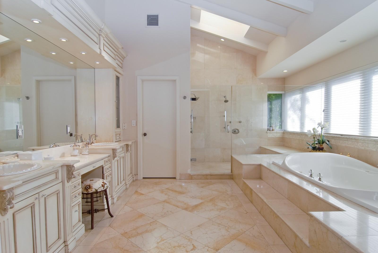 Real Estate Photography - 4845 Davis Rd, Miami, FL, 33143 - Master Bathroom