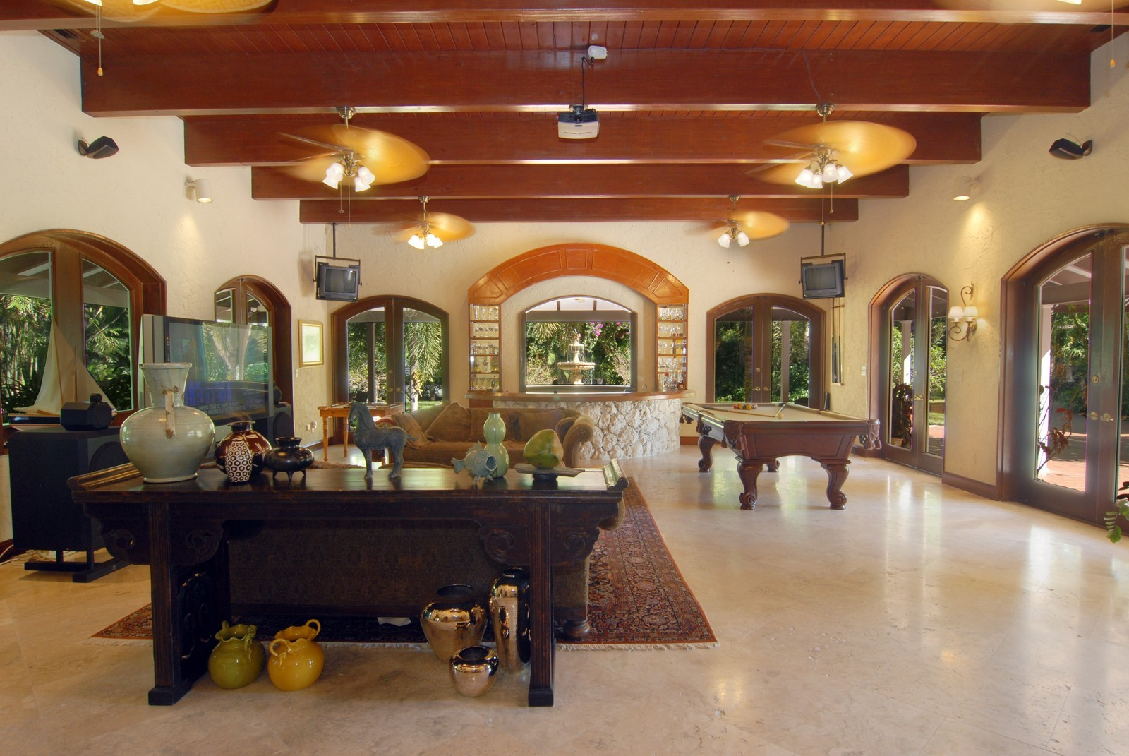 Real Estate Photography - 4845 Davis Rd, Miami, FL, 33143 - Entertainment Pavilion