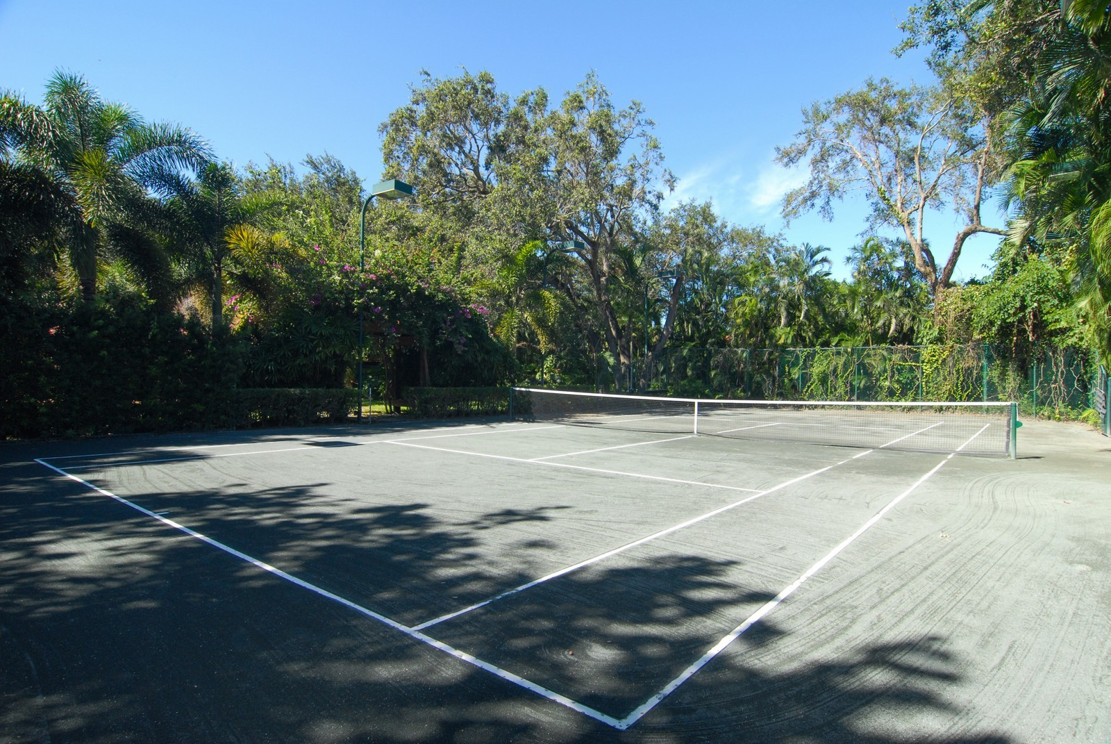Real Estate Photography - 4845 Davis Rd, Miami, FL, 33143 - Tennis Court