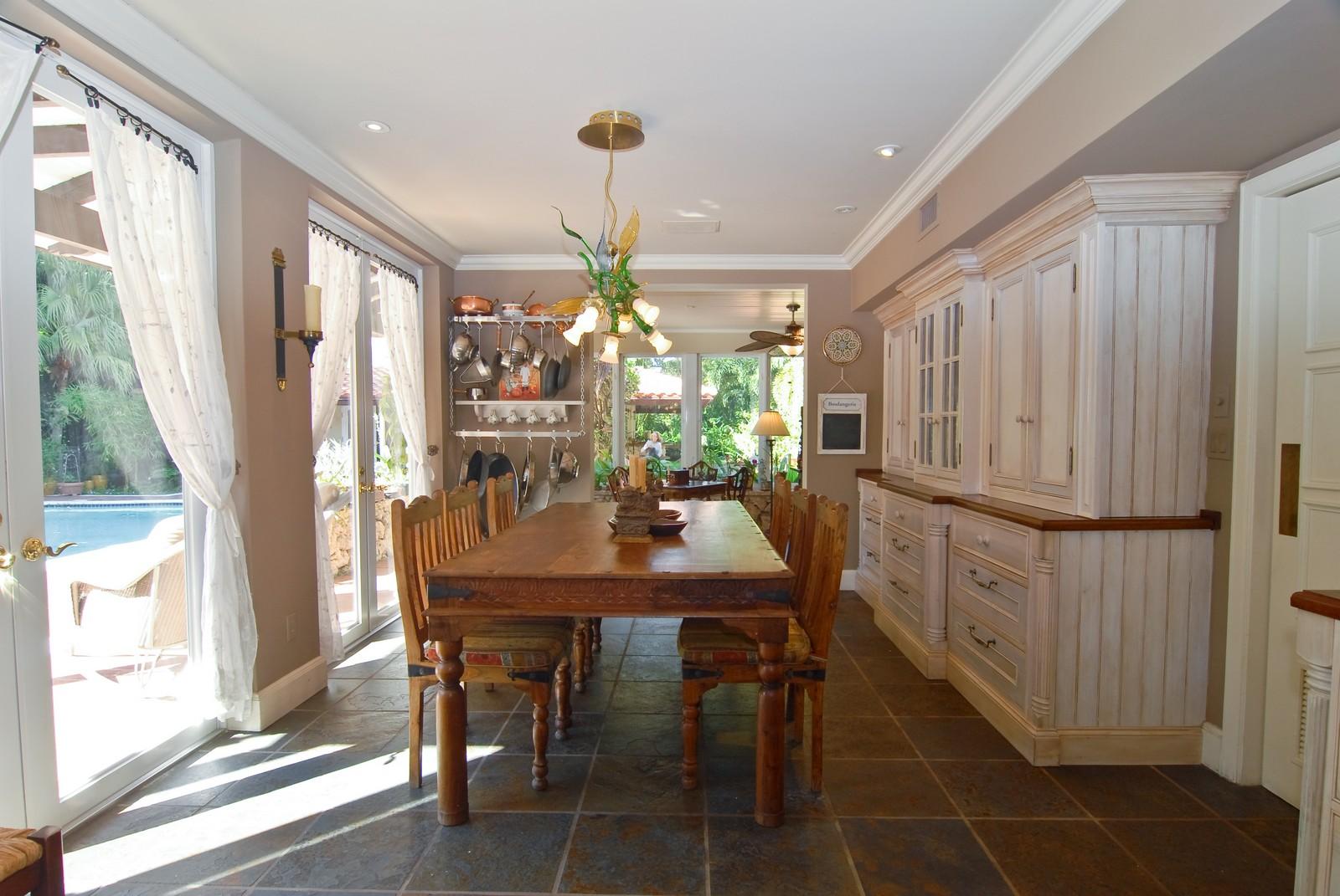 Real Estate Photography - 4845 Davis Rd, Miami, FL, 33143 - Breakfast Room