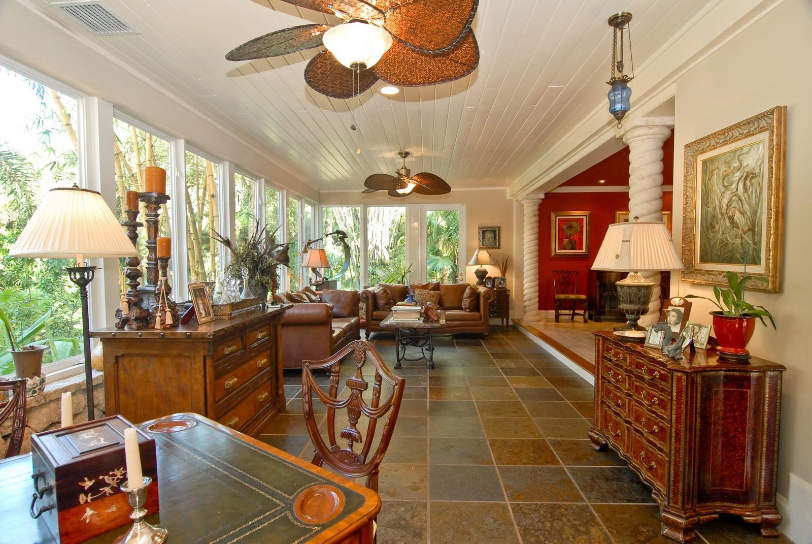 Real Estate Photography - 4845 Davis Rd, Miami, FL, 33143 - Sun Room