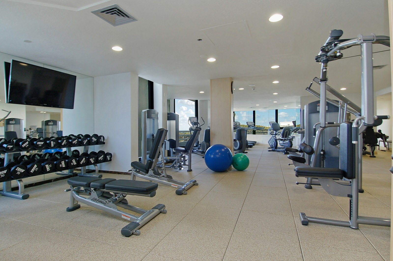 Real Estate Photography - 1400 S Ocean Blvd, Unit N1103-1104, Boca Raton, FL, 33432 - Gym
