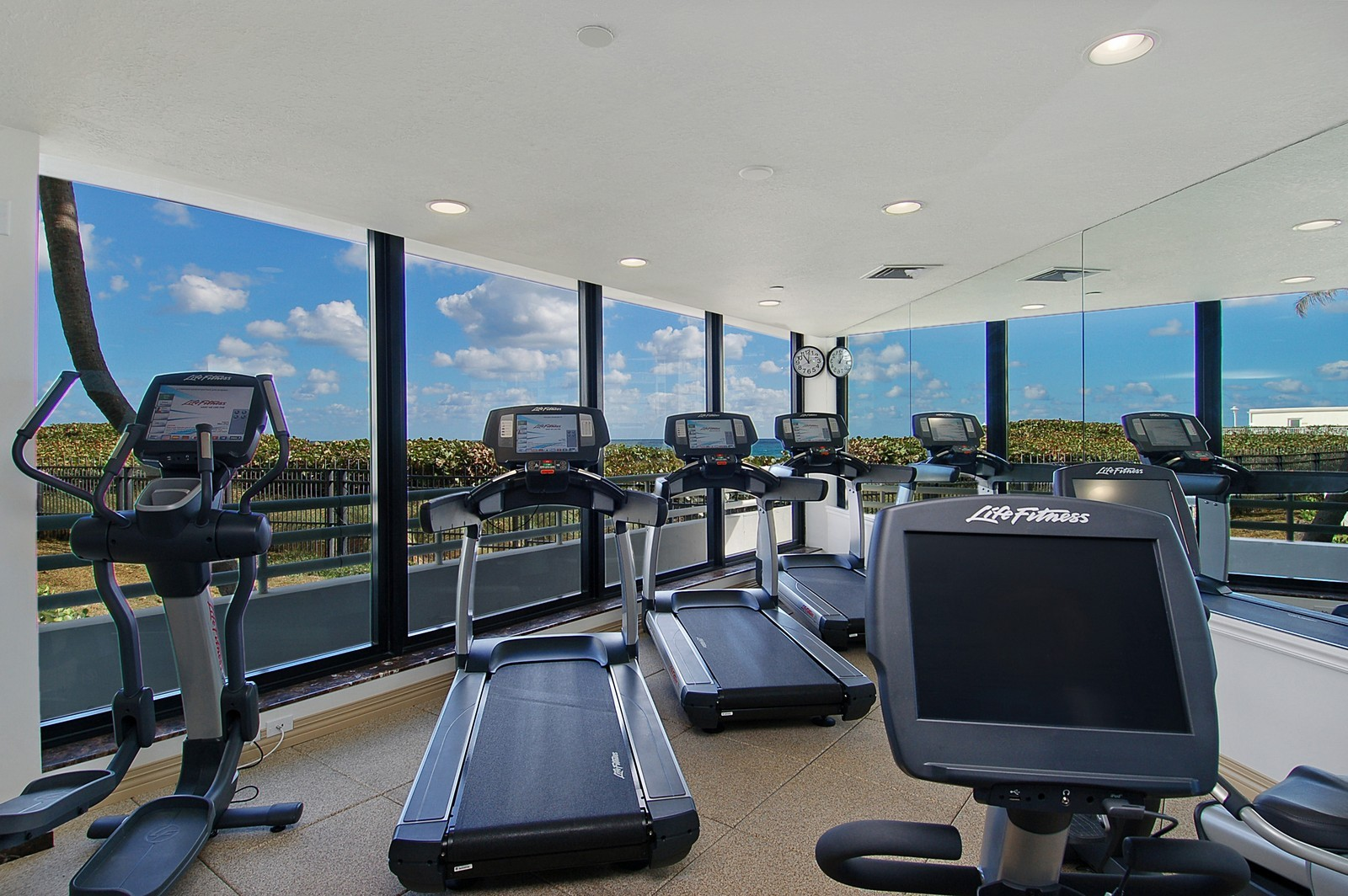 Real Estate Photography - 1400 S Ocean Blvd, Unit N1103-1104, Boca Raton, FL, 33432 - Exercise Room