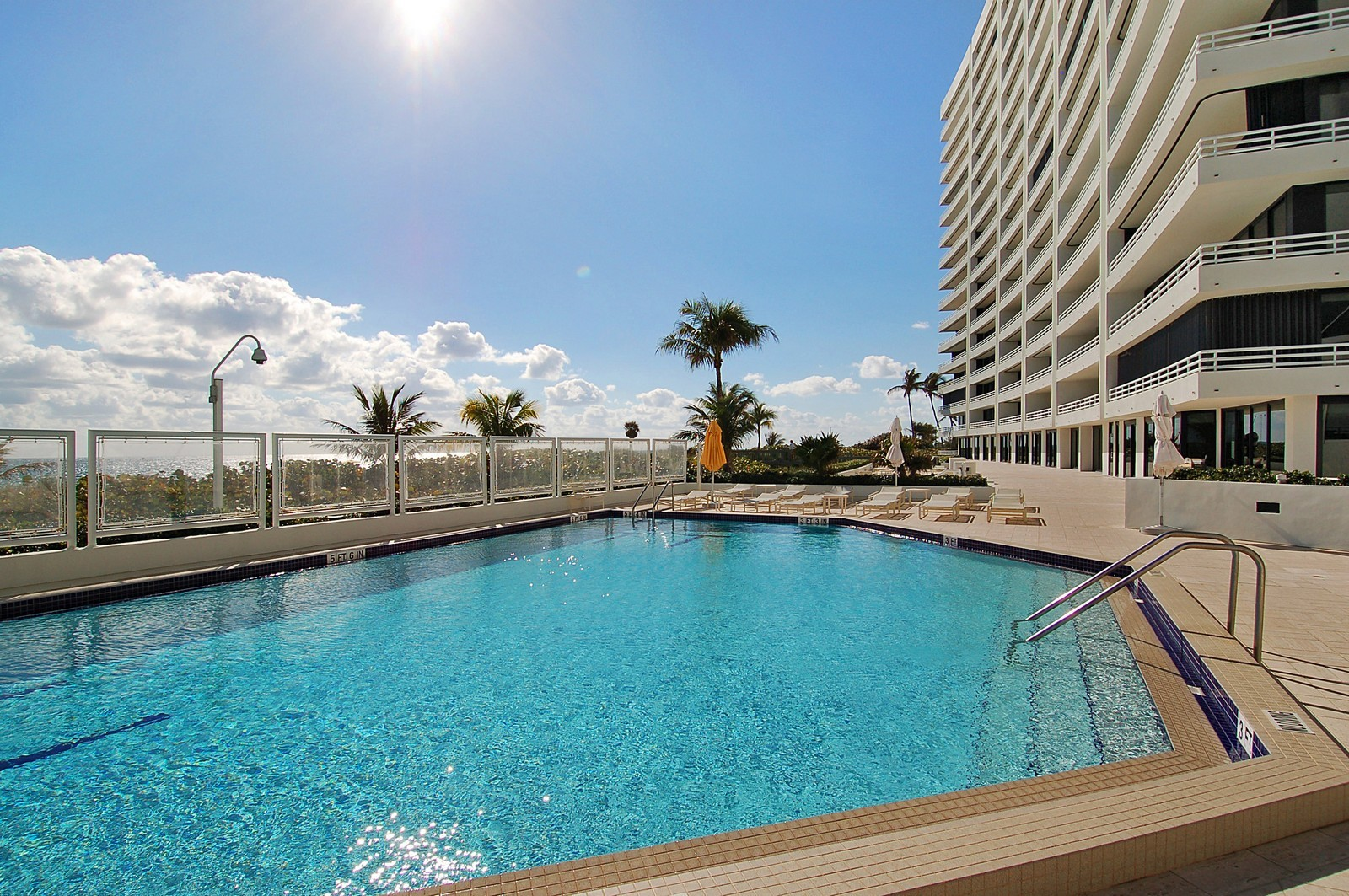 Real Estate Photography - 1400 S Ocean Blvd, Unit N1103-1104, Boca Raton, FL, 33432 - Pool