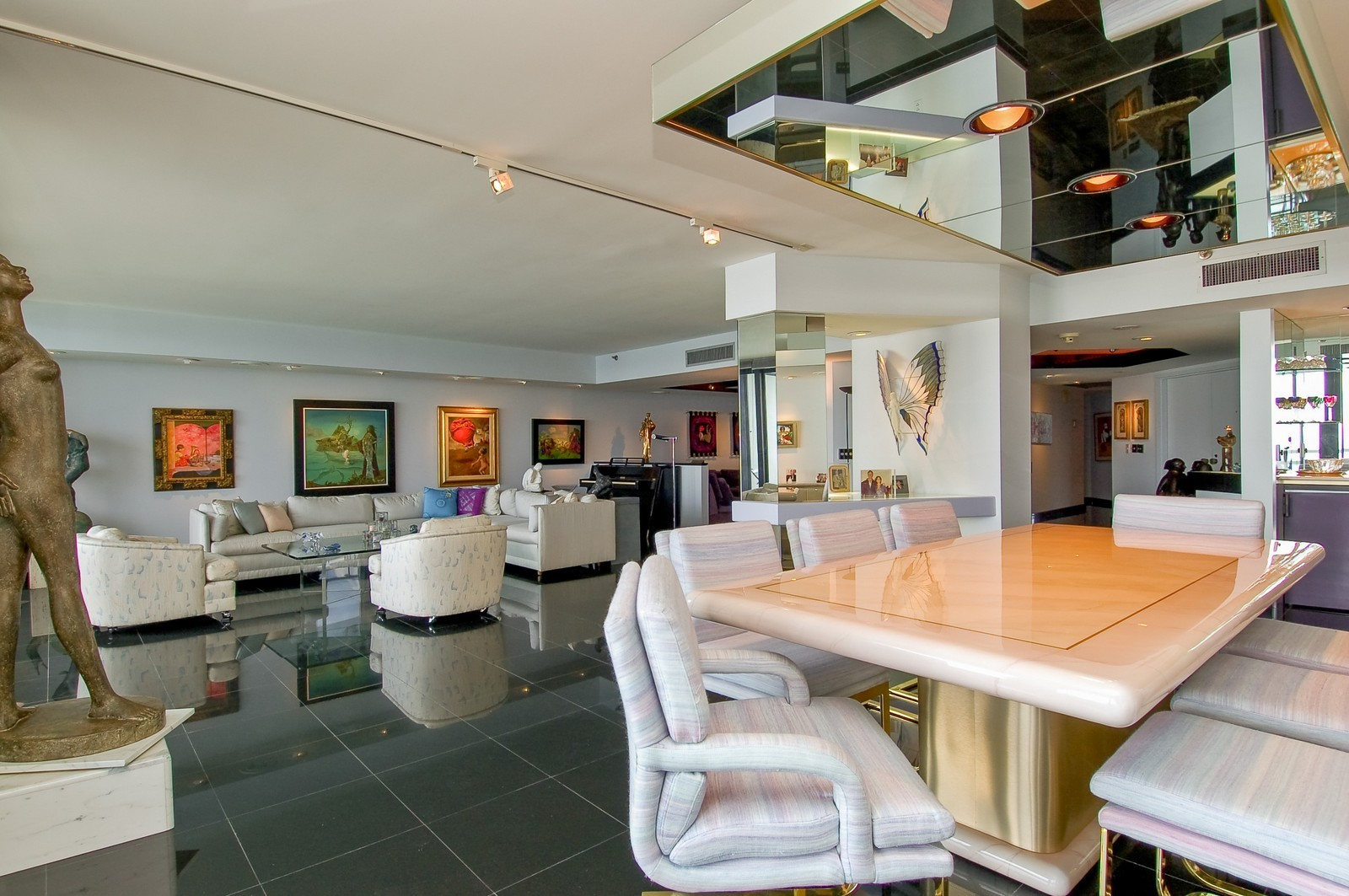 Real Estate Photography - 1400 S Ocean Blvd, Unit N1103-1104, Boca Raton, FL, 33432 - Dining Area 2
