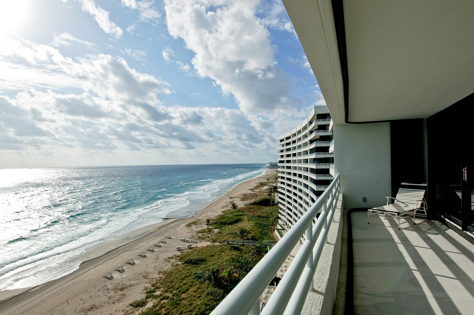 Real Estate Photography - 1400 S Ocean Blvd, Unit N1103-1104, Boca Raton, FL, 33432 - Balcony