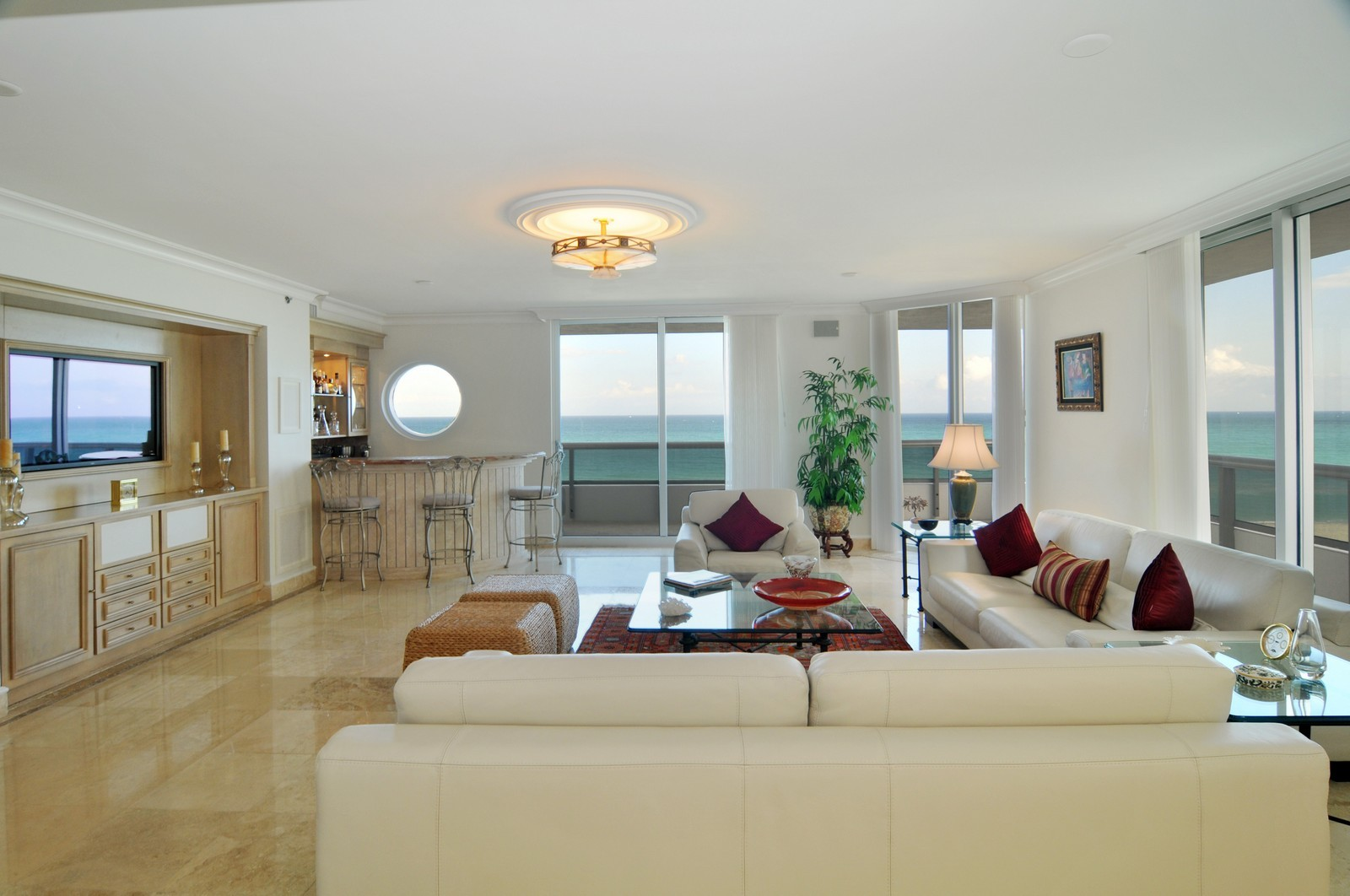 Real Estate Photography - 5801 Collins Ave, Unit 800, Miami Beach, FL, 33140 - Living Room