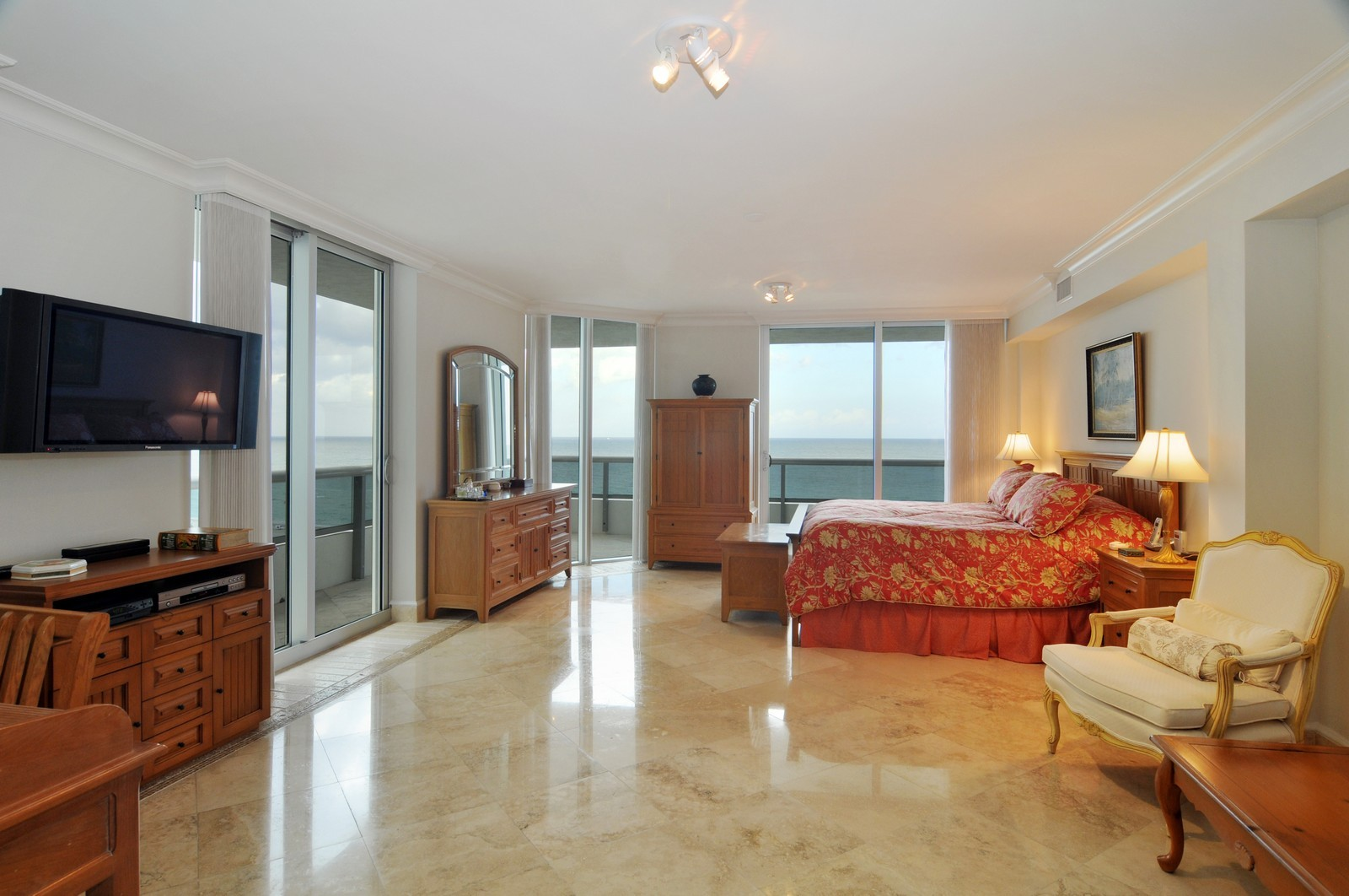 Real Estate Photography - 5801 Collins Ave, Unit 800, Miami Beach, FL, 33140 - Master Bedroom