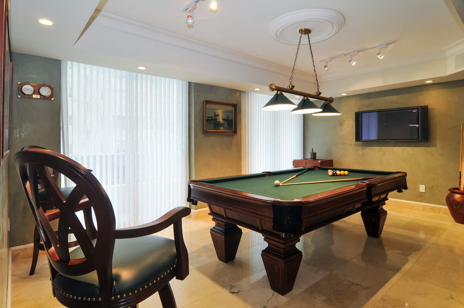 Real Estate Photography - 5801 Collins Ave, Unit 800, Miami Beach, FL, 33140 - Recreational Room