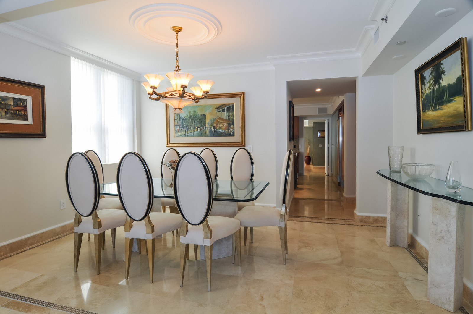 Real Estate Photography - 5801 Collins Ave, Unit 800, Miami Beach, FL, 33140 - Dining Room