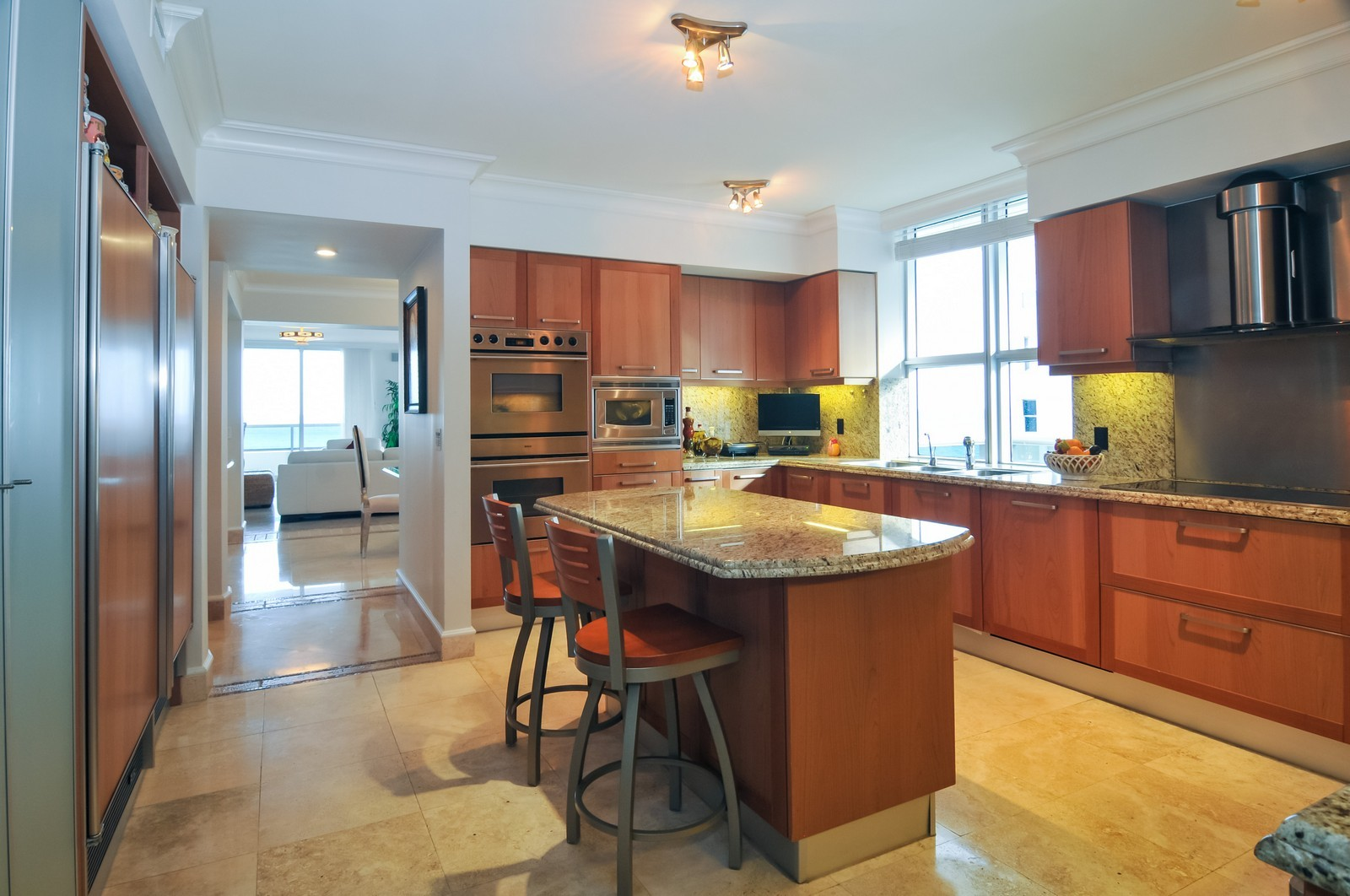Real Estate Photography - 5801 Collins Ave, Unit 800, Miami Beach, FL, 33140 - Kitchen