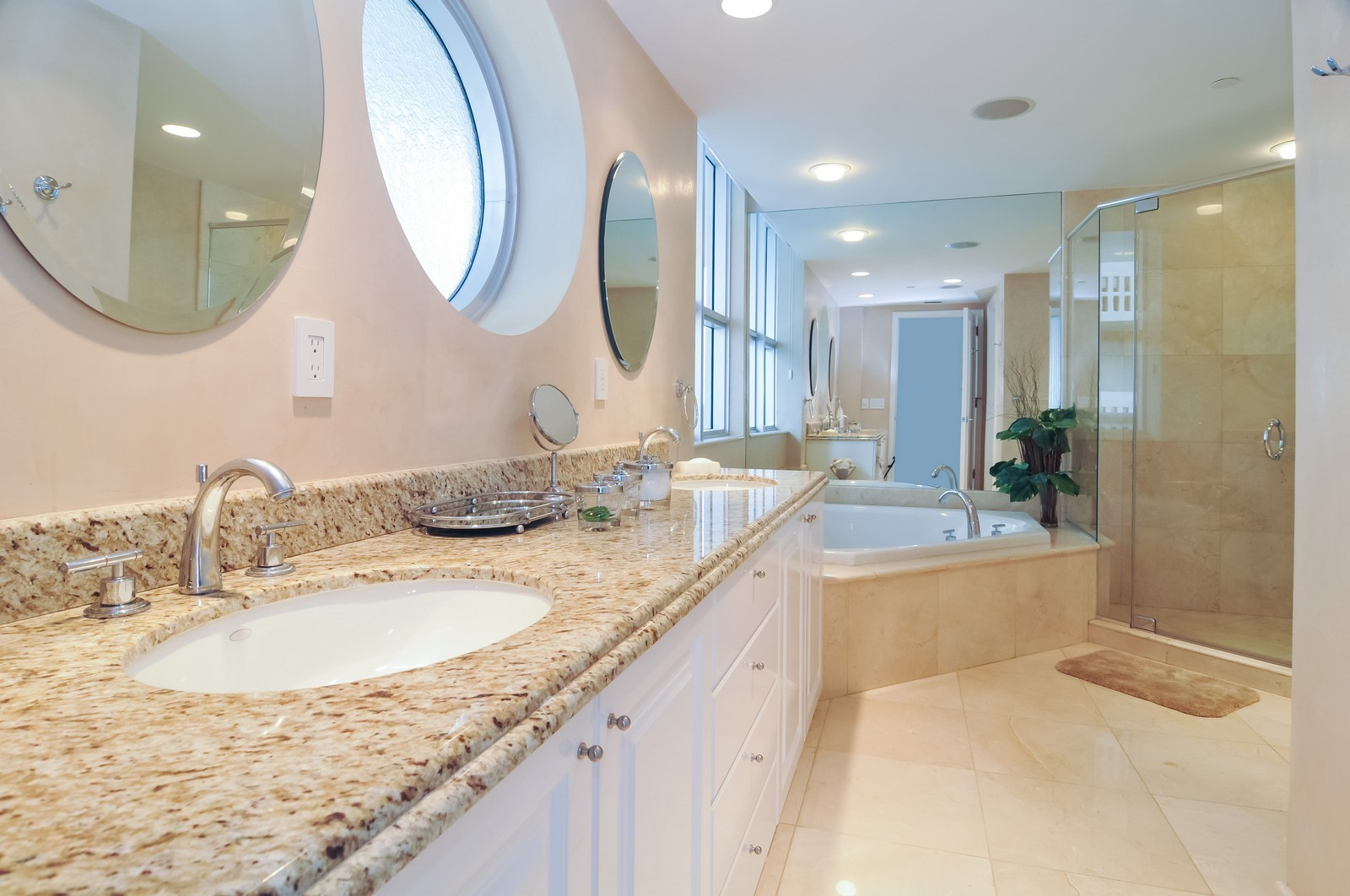 Real Estate Photography - 5801 Collins Ave, Unit 800, Miami Beach, FL, 33140 - Bathroom