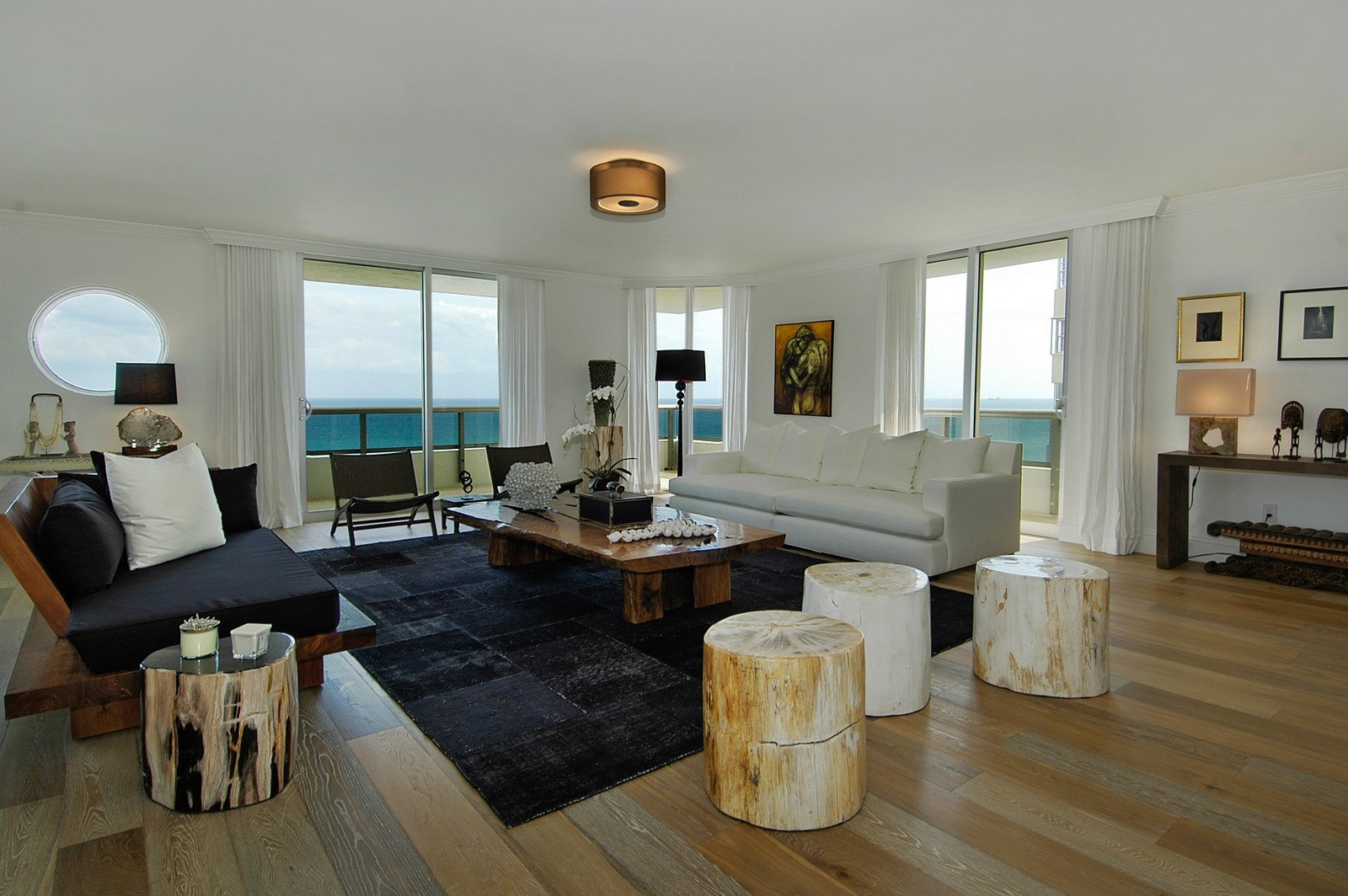 Real Estate Photography - 5801 Collins Ave, Unit 1000, Miami Beach, FL, 33140 - Living Room