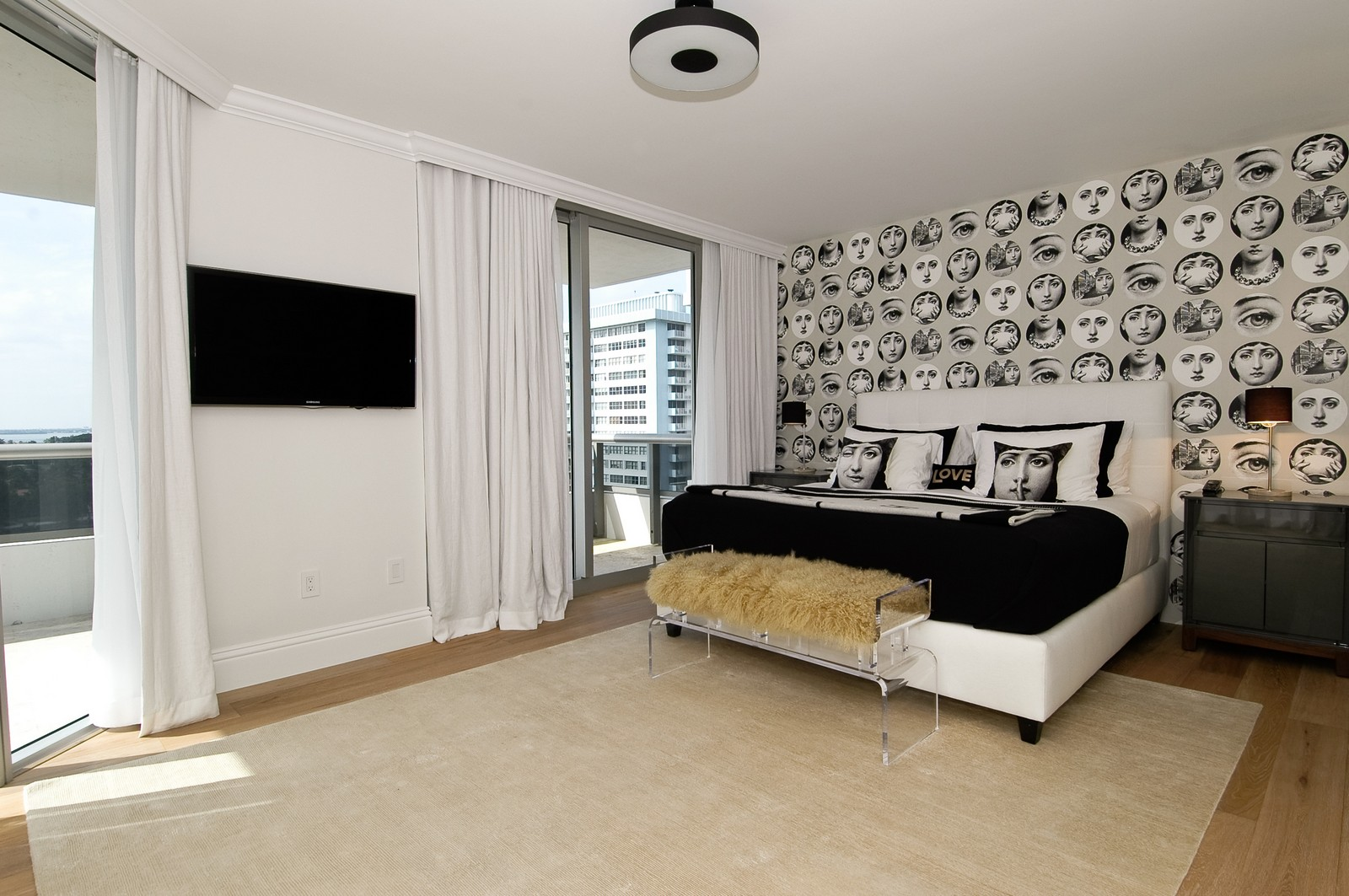 Real Estate Photography - 5801 Collins Ave, Unit 1000, Miami Beach, FL, 33140 - Master Bedroom