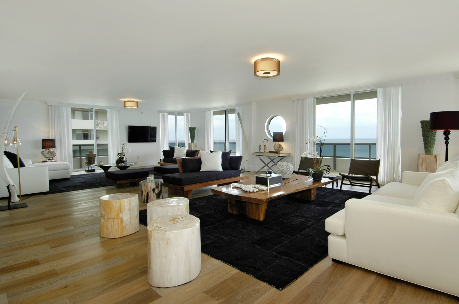 Real Estate Photography - 5801 Collins Ave, Unit 1000, Miami Beach, FL, 33140 - Living Rm/Family Rm