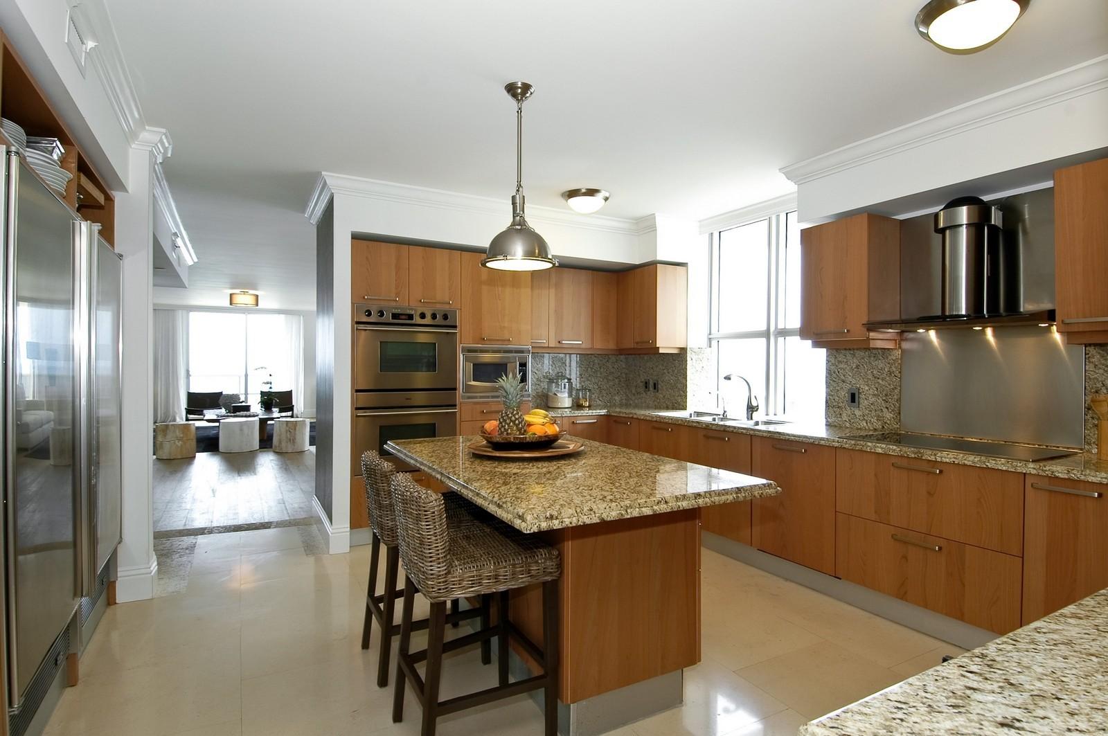 Real Estate Photography - 5801 Collins Ave, Unit 1000, Miami Beach, FL, 33140 - Kitchen