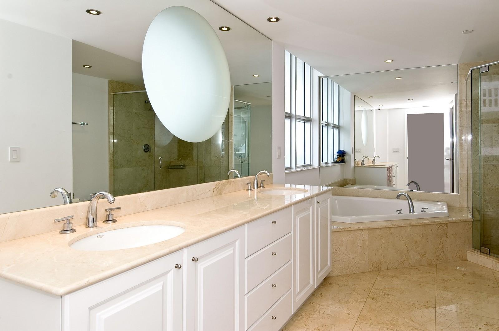 Real Estate Photography - 5801 Collins Ave, Unit 1000, Miami Beach, FL, 33140 - Bathroom