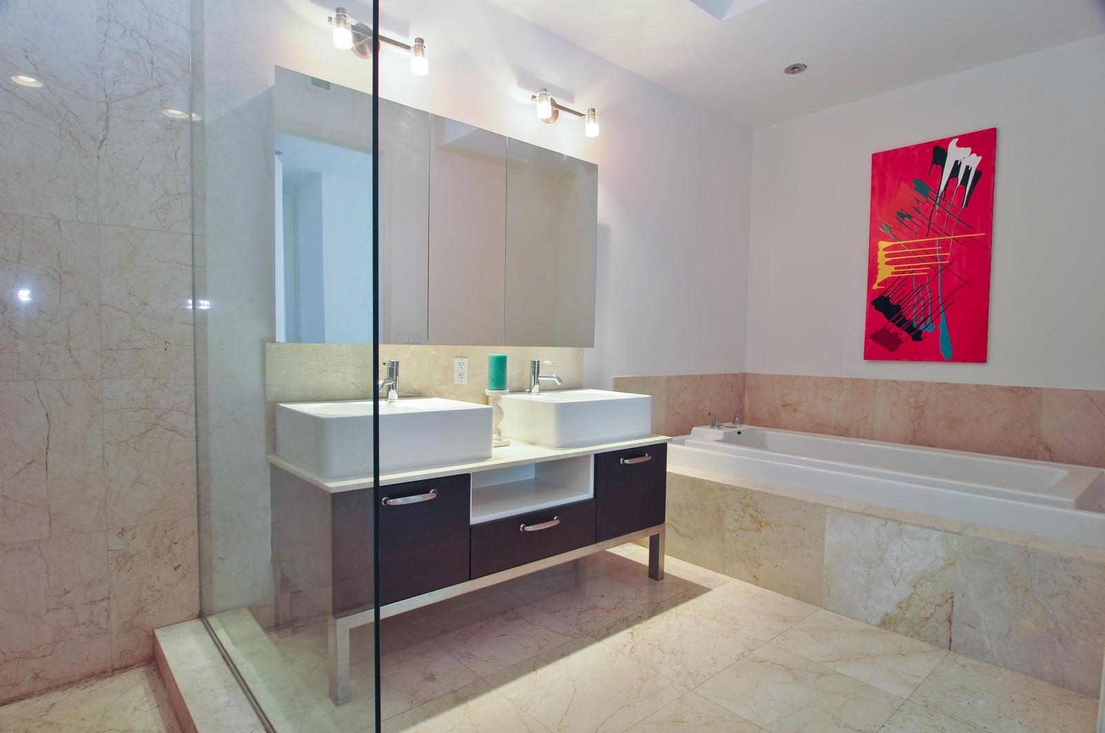 Real Estate Photography - 218 SE 14th St, PH 2, Miami, FL, 33131 - Master Bathroom