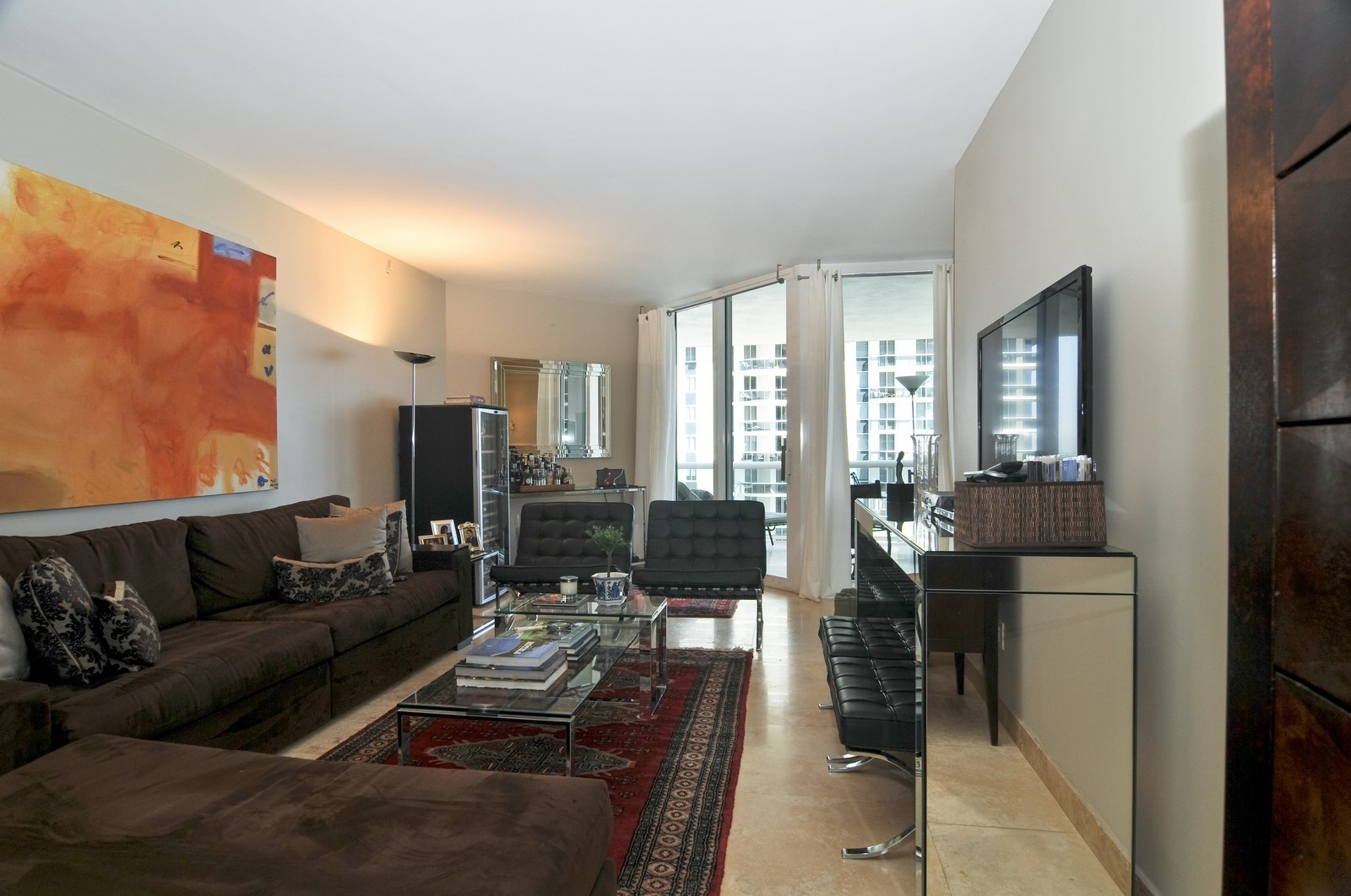 Real Estate Photography - 4775 Collins Ave, Unit 3708, Miami Beach, FL, 33140 - Living Room
