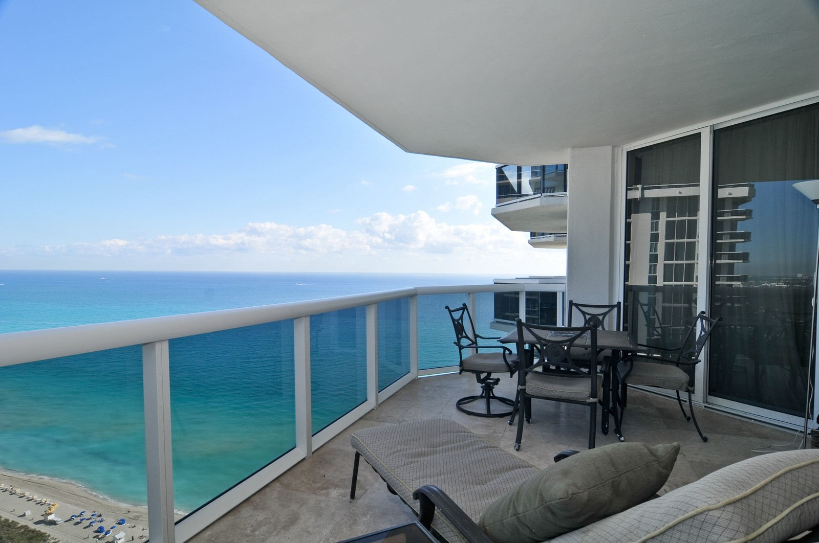 Real Estate Photography - 4775 Collins Ave, Unit 3708, Miami Beach, FL, 33140 - Balcony