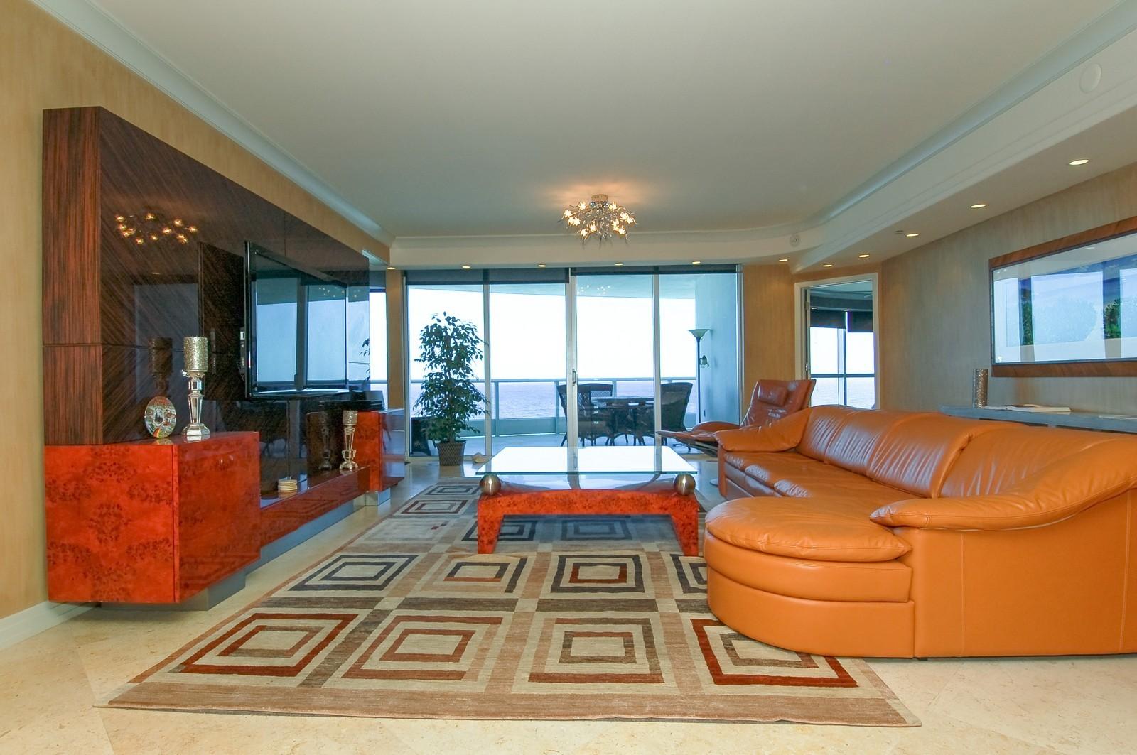 Real Estate Photography - 1600 S Ocean Blvd, Apt 802, Pompano Beach, FL, 33062 - Living Room