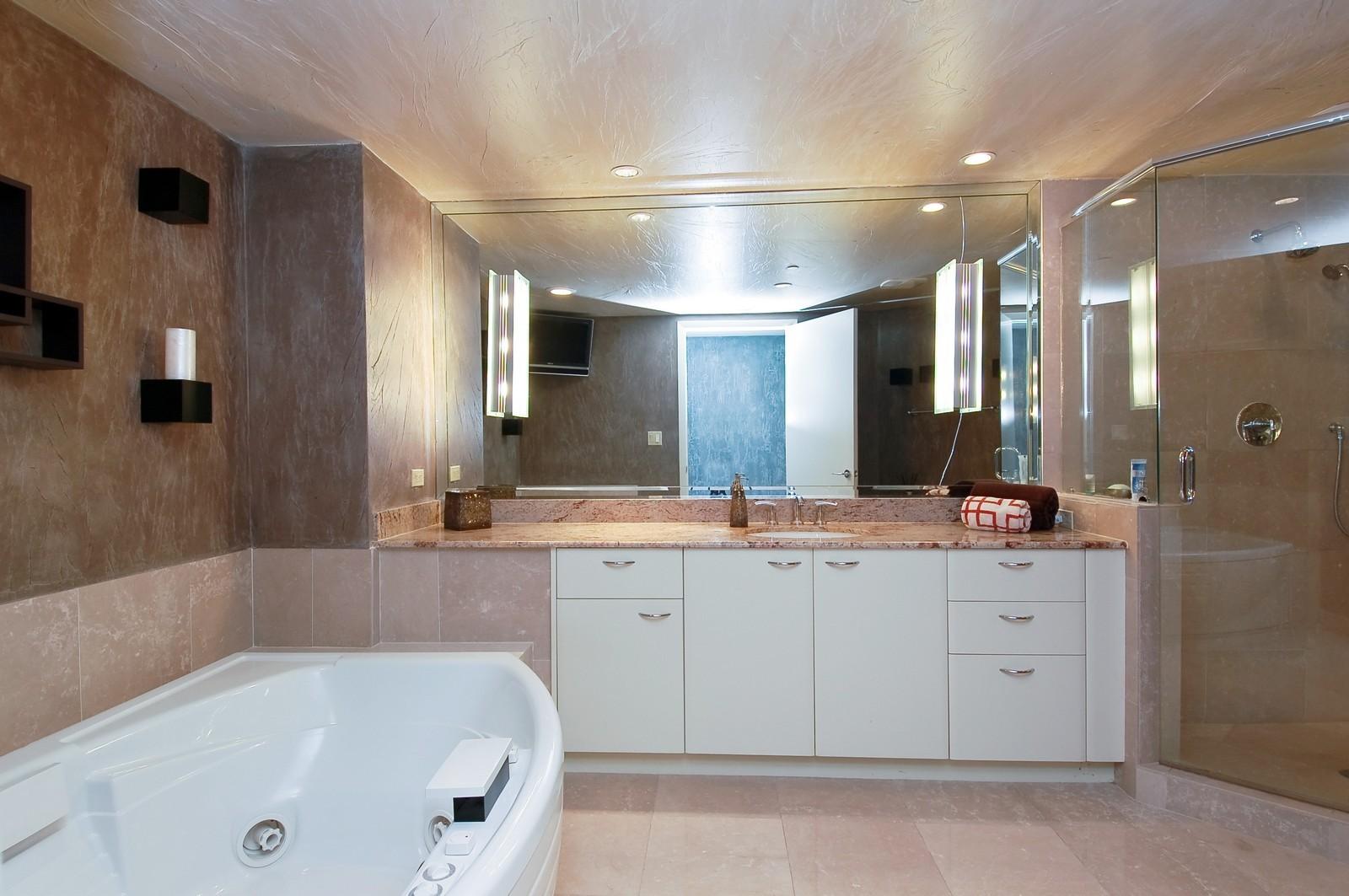Real Estate Photography - 1600 S Ocean Blvd, Apt 802, Pompano Beach, FL, 33062 - Master Bathroom