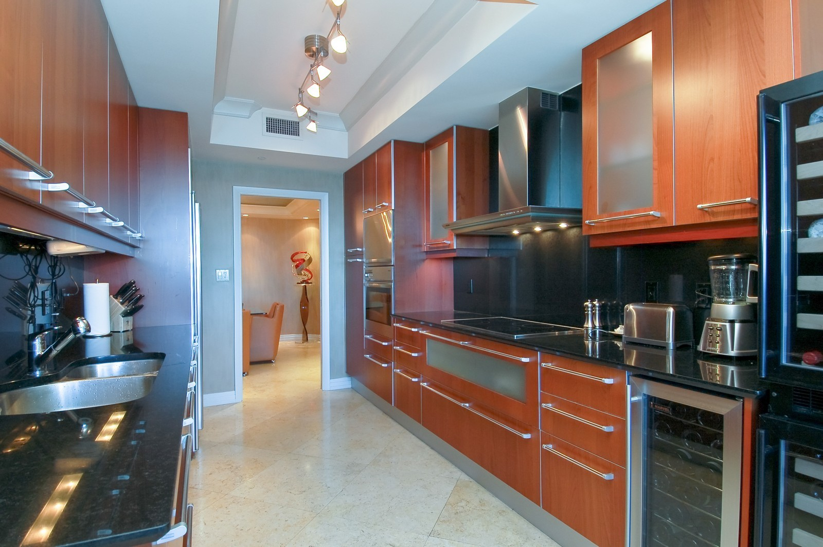 Real Estate Photography - 1600 S Ocean Blvd, Apt 802, Pompano Beach, FL, 33062 - Kitchen
