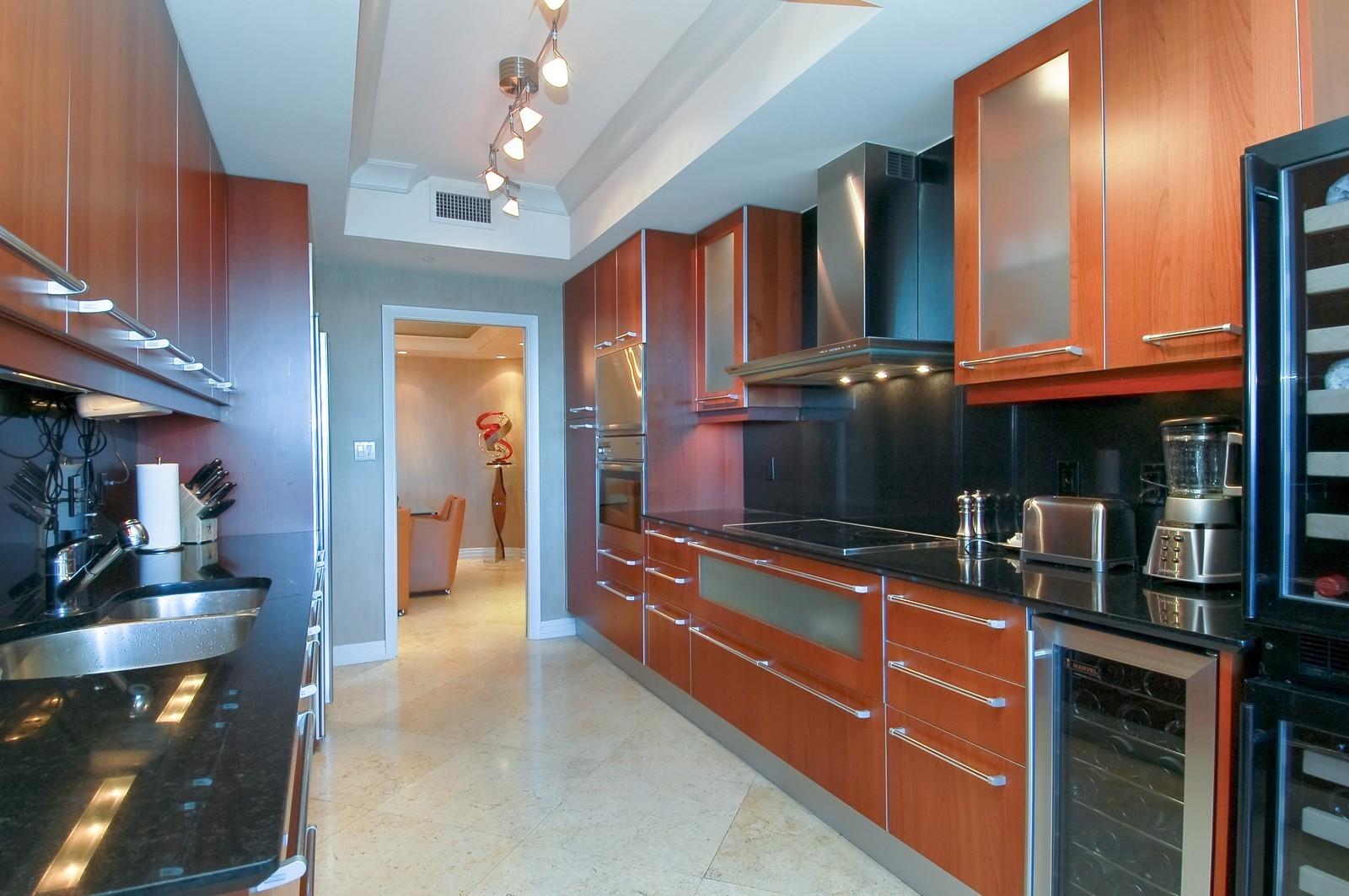 Real Estate Photography - 1600 S Ocean Blvd, Apt 802, Pompano Beach, FL, 33062 - Kitchen