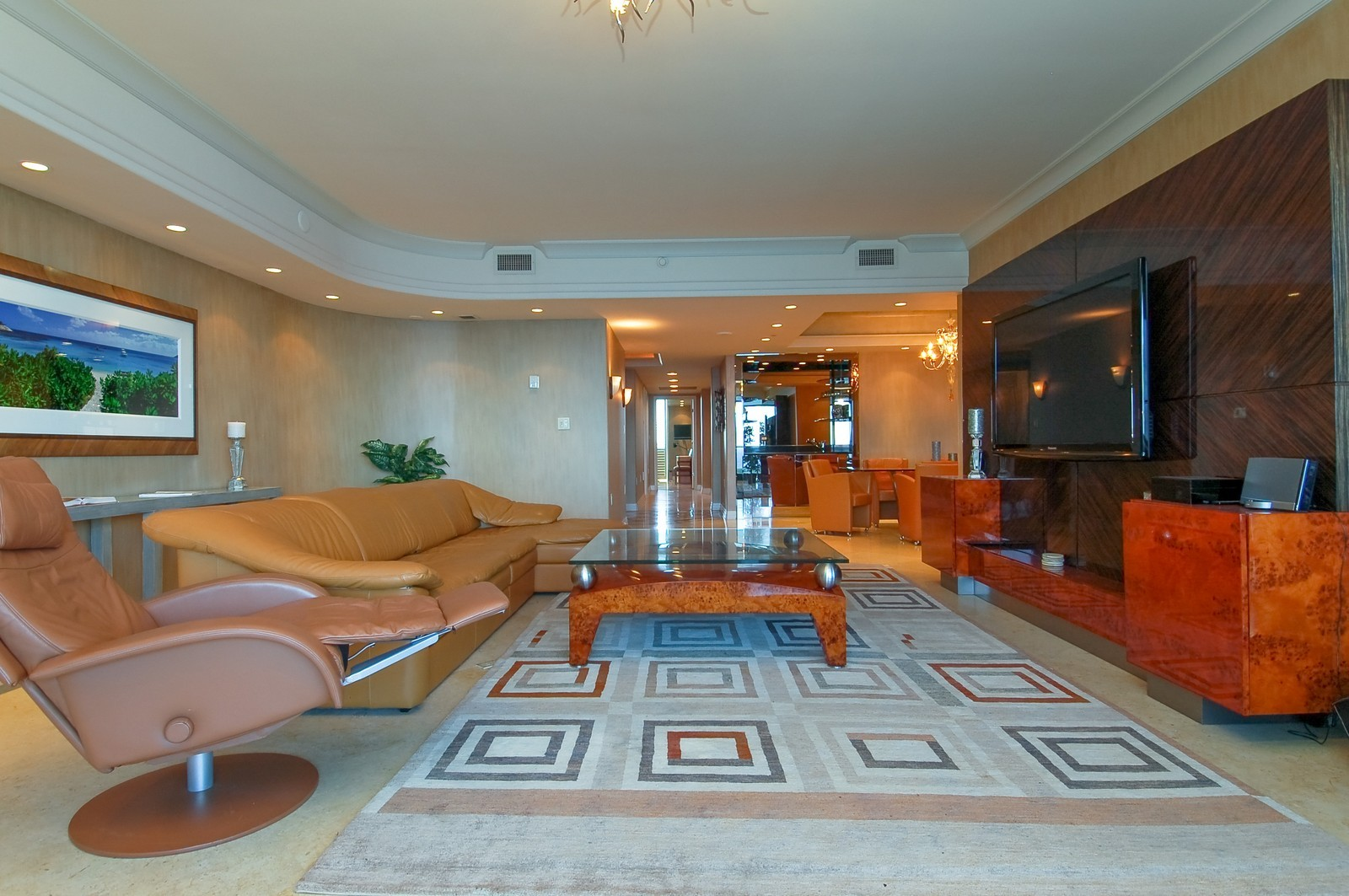Real Estate Photography - 1600 S Ocean Blvd, Apt 802, Pompano Beach, FL, 33062 - Family Room / Kitchen