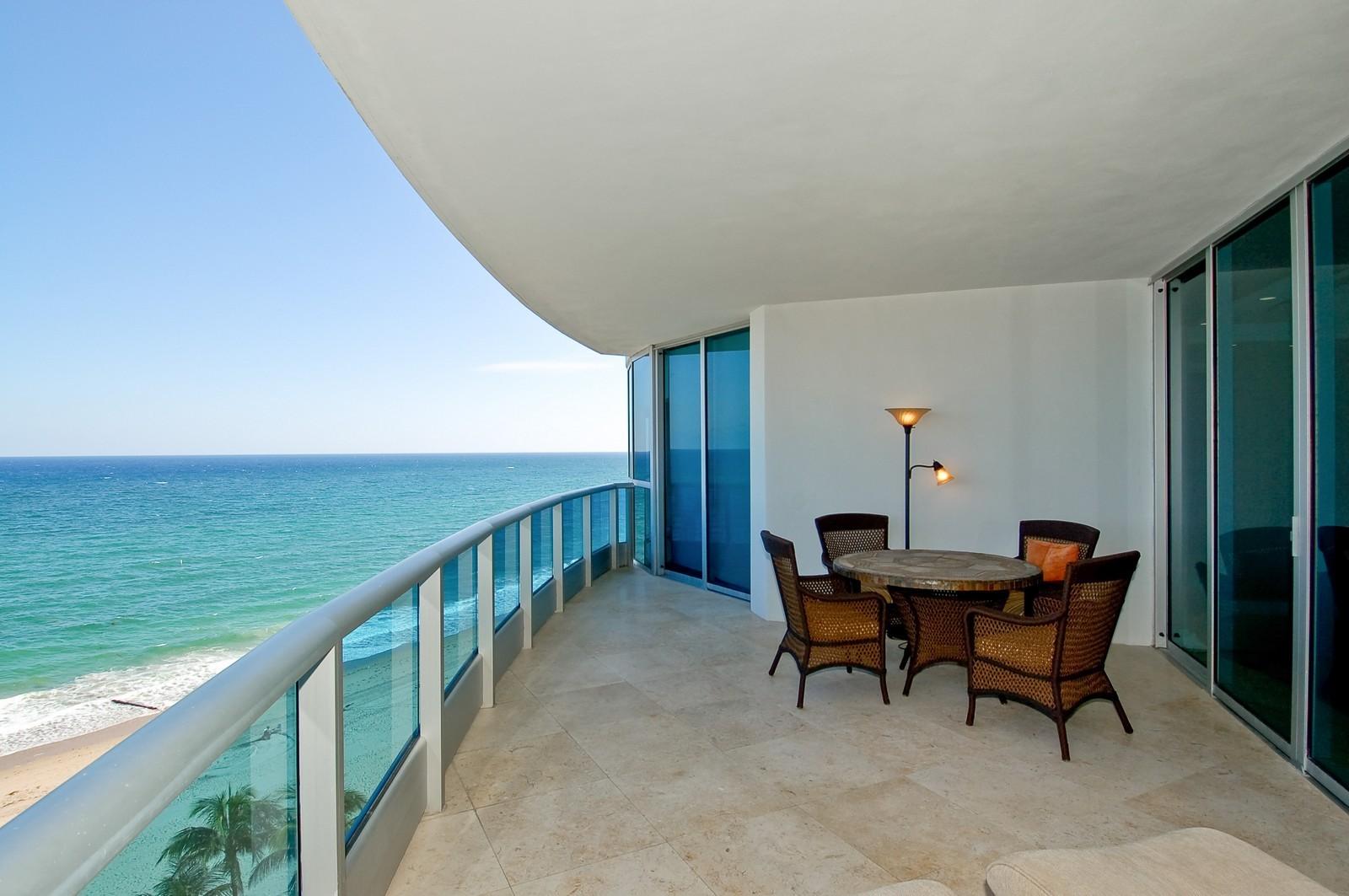 Real Estate Photography - 1600 S Ocean Blvd, Apt 802, Pompano Beach, FL, 33062 - Balcony