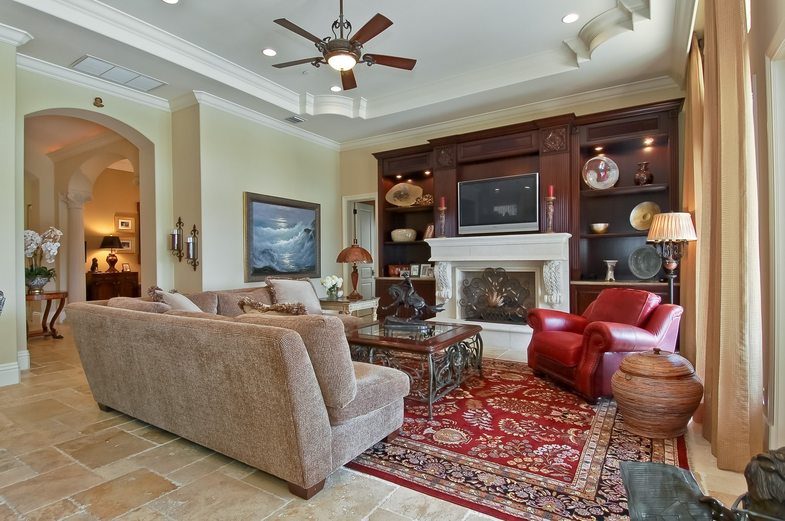 Real Estate Photography - 4022 S Ocean Blvd, Highland Beach, FL, 33487 - Family Room