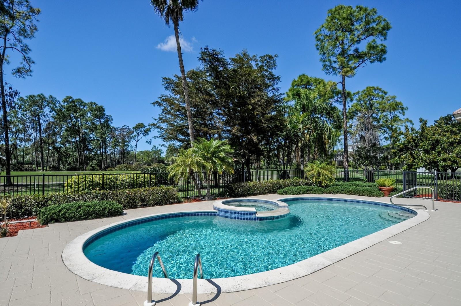 Real Estate Photography - 13501 Pond Apple Drive E, Naples, FL, 34119 - Pool