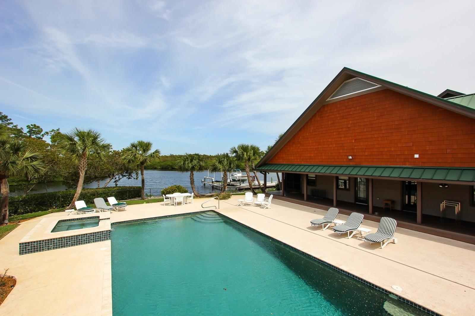 Real Estate Photography - 18300 SE Loxahatchee River Rd, Jupiter, FL, 33458 - Pool