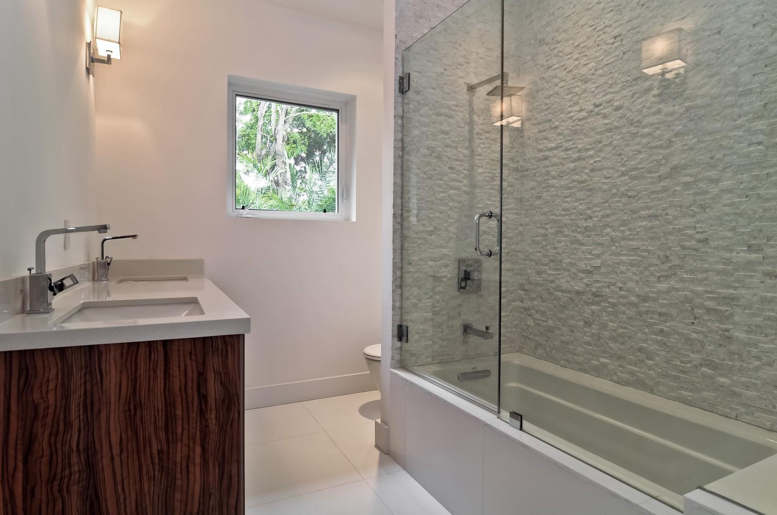 Real Estate Photography - 3645 Battersea, Miami, FL, 33133 - 2nd Bathroom