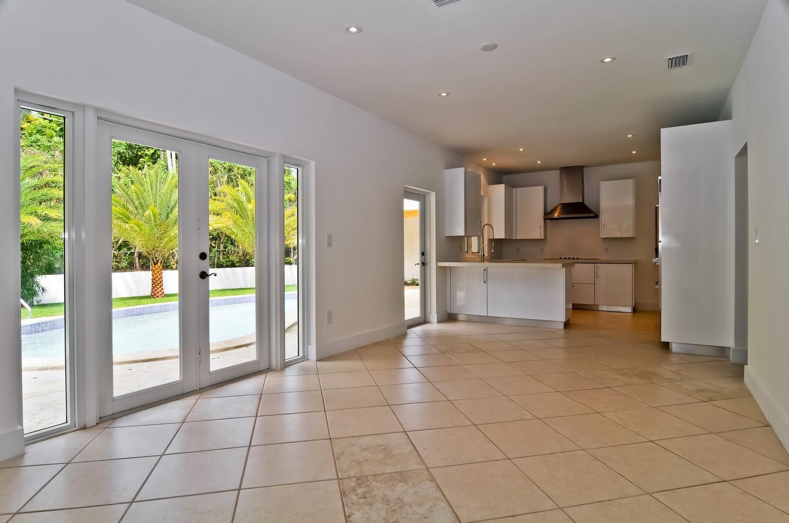 Real Estate Photography - 3645 Battersea, Miami, FL, 33133 - Family Room / Kitchen