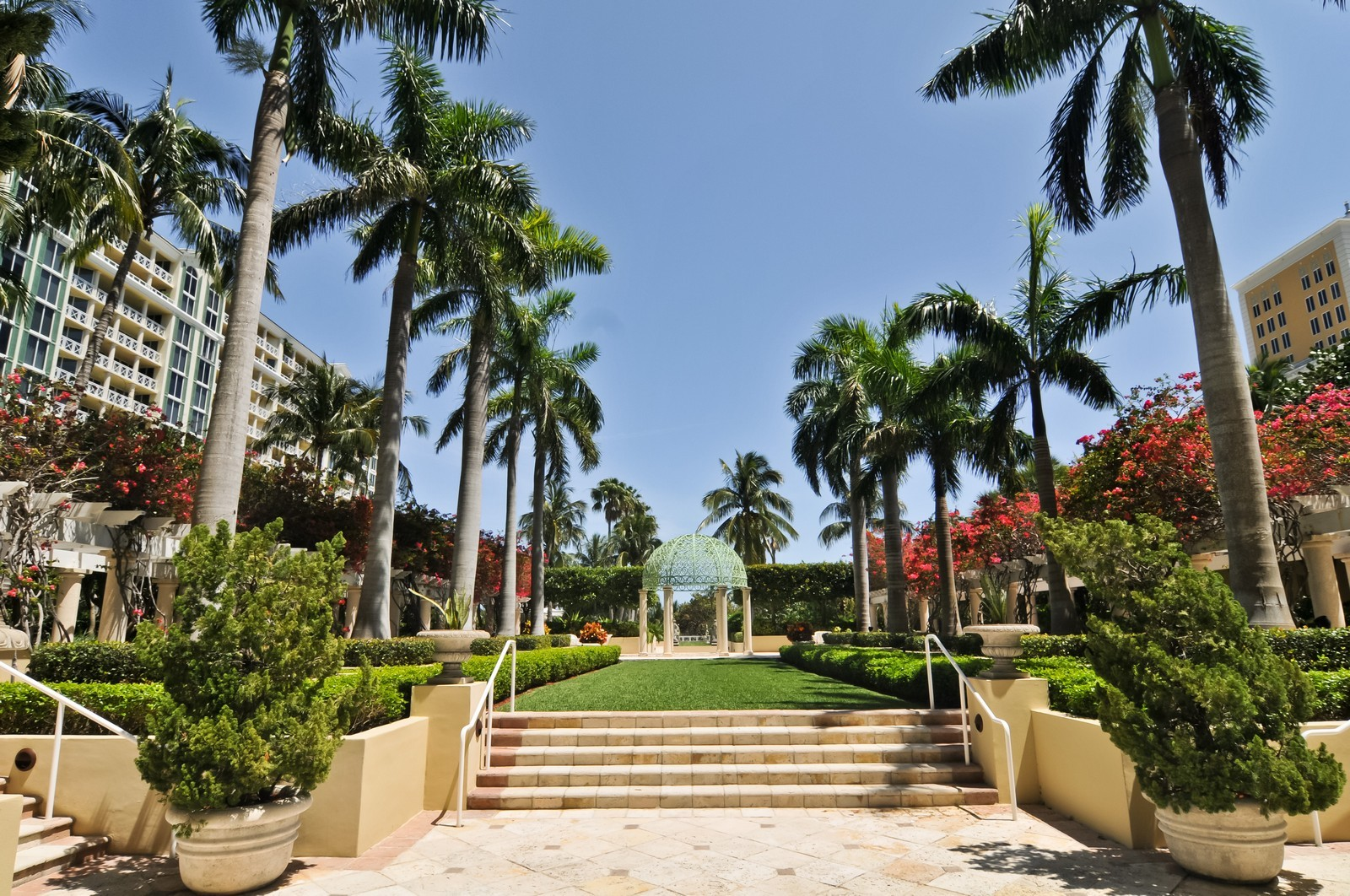 Real Estate Photography - 445 Grand Bay Dr, Unit 705, Key Biscayne, FL, 33149 - Garden