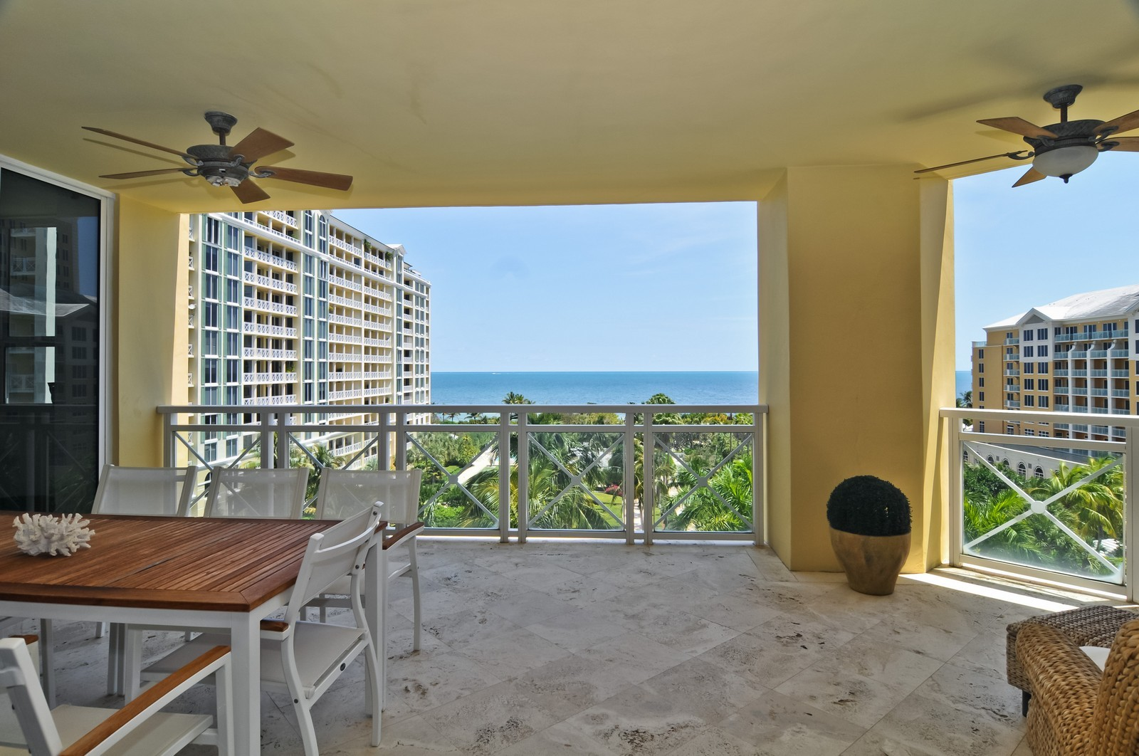 Real Estate Photography - 445 Grand Bay Dr, Unit 705, Key Biscayne, FL, 33149 - Balcony