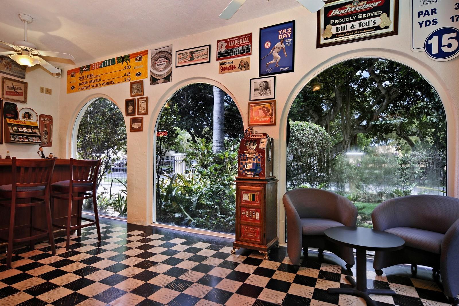 Real Estate Photography - 716 Alhambra Circle, Coral Gables, FL, 33134 - Bar