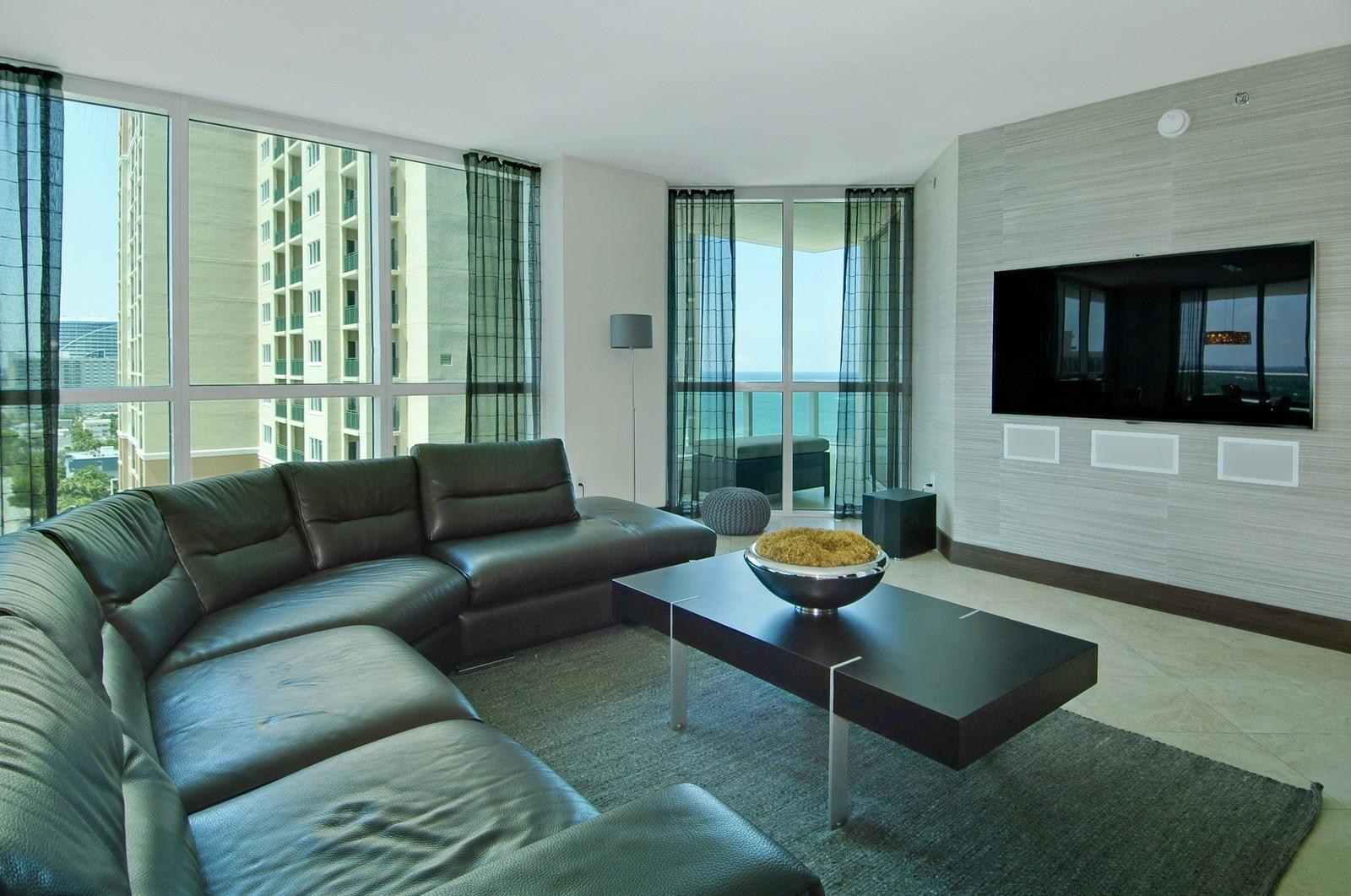 Real Estate Photography - 101 S Fort Lauderdale Beach Blvd, Unit 1506, Fort Lauderdale, FL, 33316 - Living Room