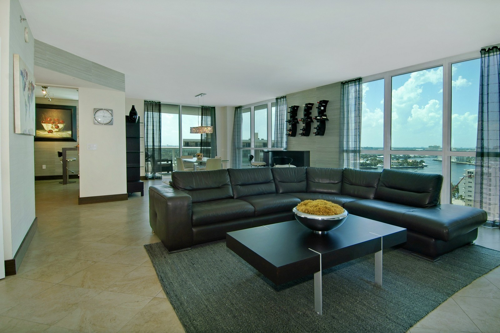 Real Estate Photography - 101 S Fort Lauderdale Beach Blvd, Unit 1506, Fort Lauderdale, FL, 33316 - Living Room / Dining Room