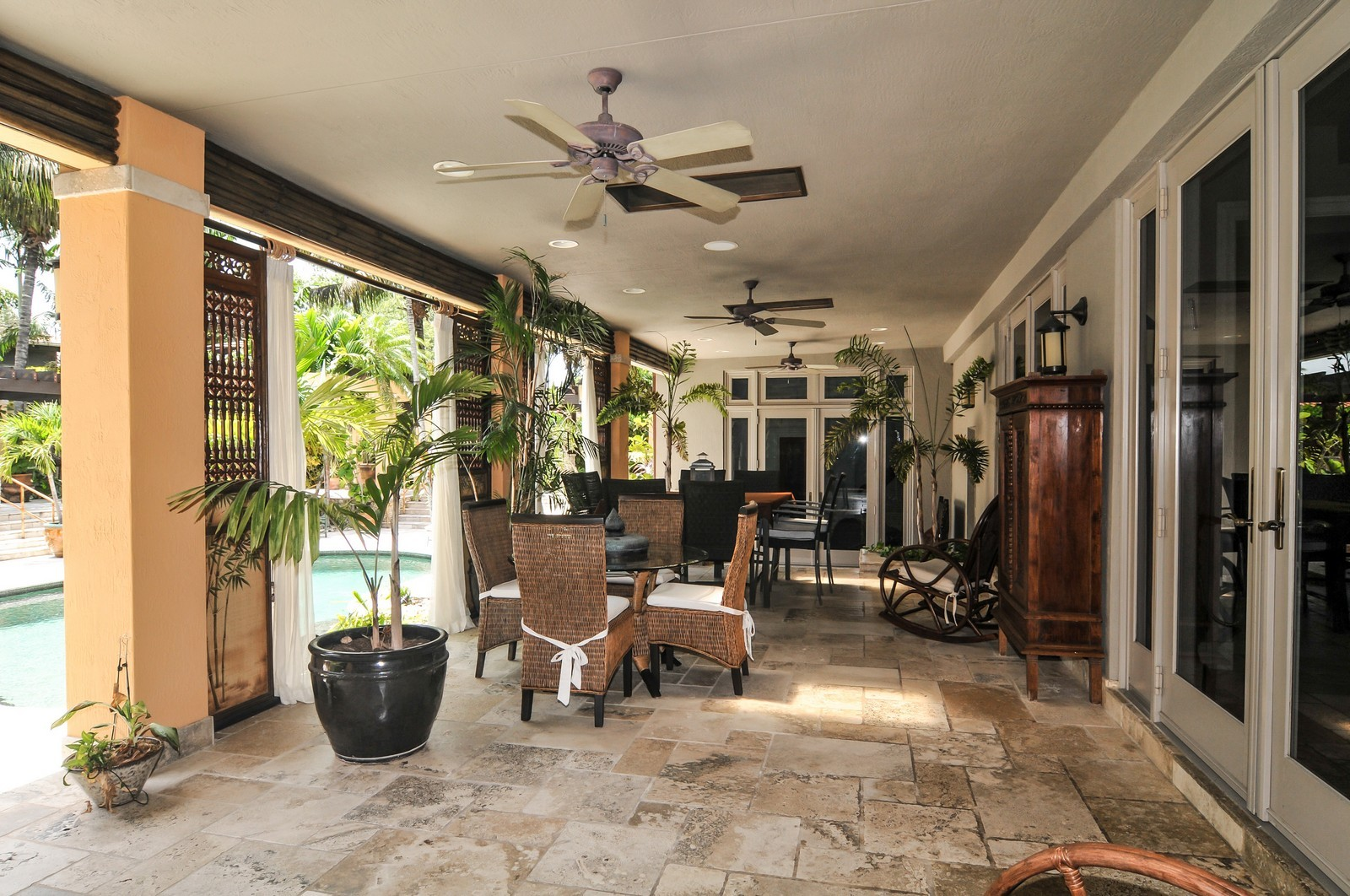 Real Estate Photography - 14200 Farmer Rd, Palmetto Bay, FL, 33158 - Terrace 2