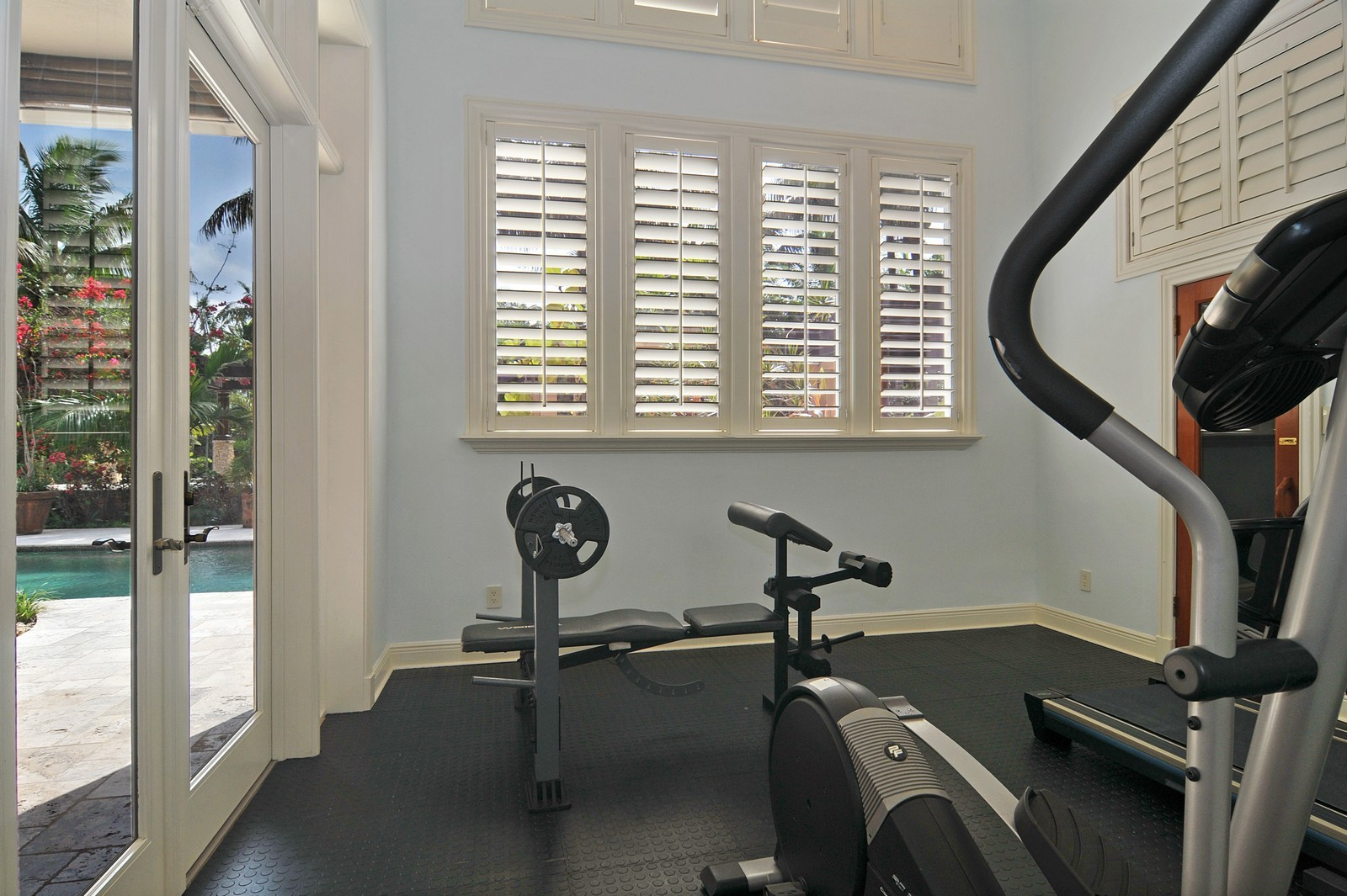 Real Estate Photography - 14200 Farmer Rd, Palmetto Bay, FL, 33158 - Gym