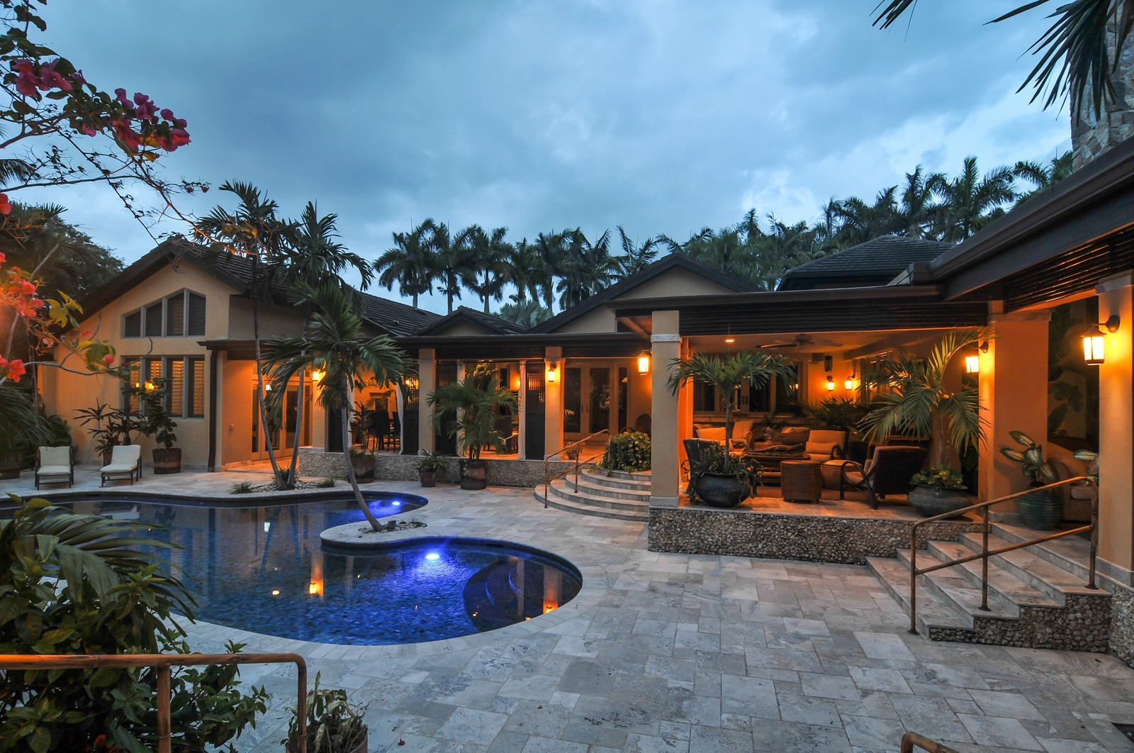 Real Estate Photography - 14200 Farmer Rd, Palmetto Bay, FL, 33158 - Property designed by renowned Fernando Sanchez