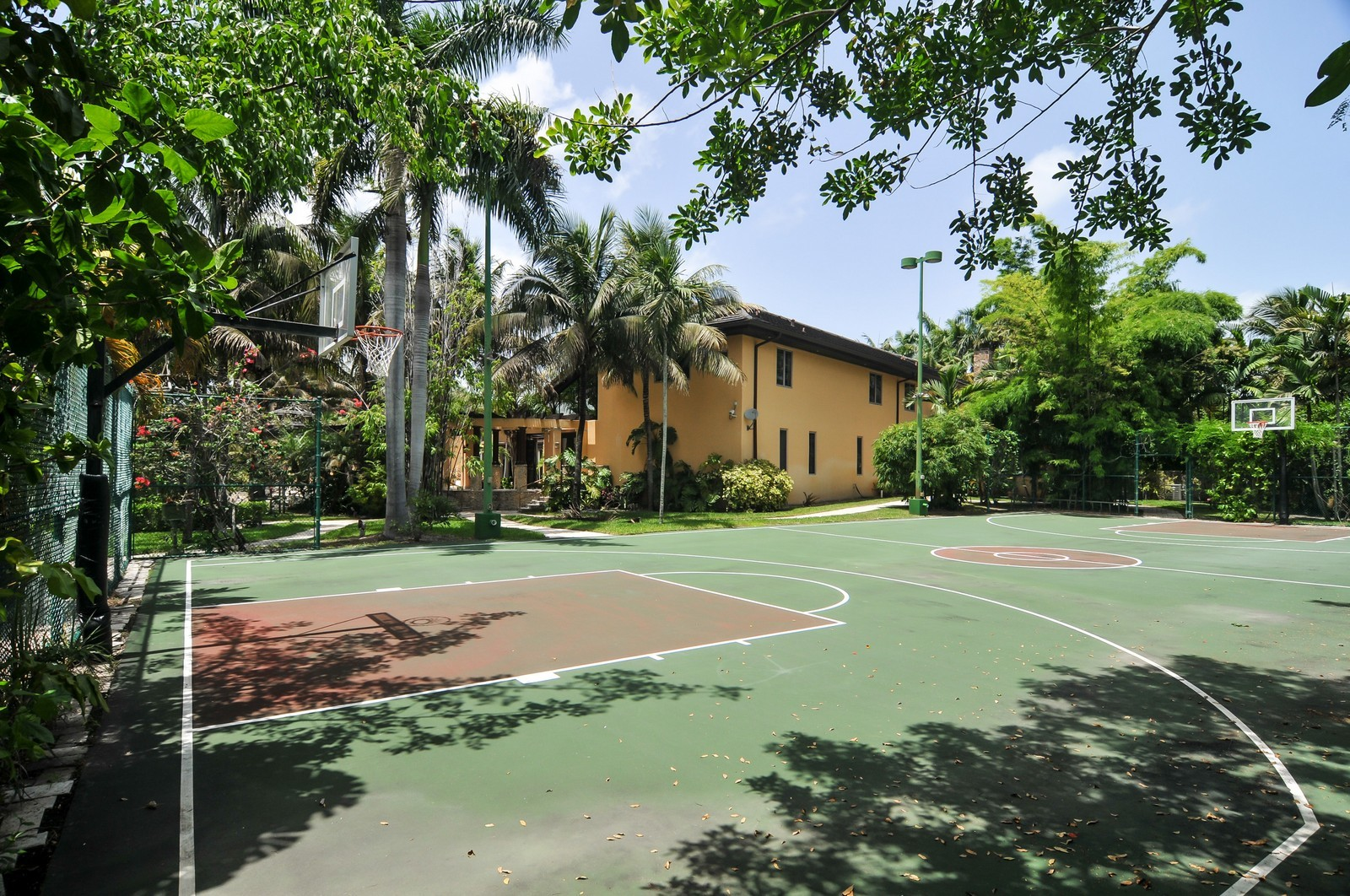 Real Estate Photography - 14200 Farmer Rd, Palmetto Bay, FL, 33158 - Basketball Court